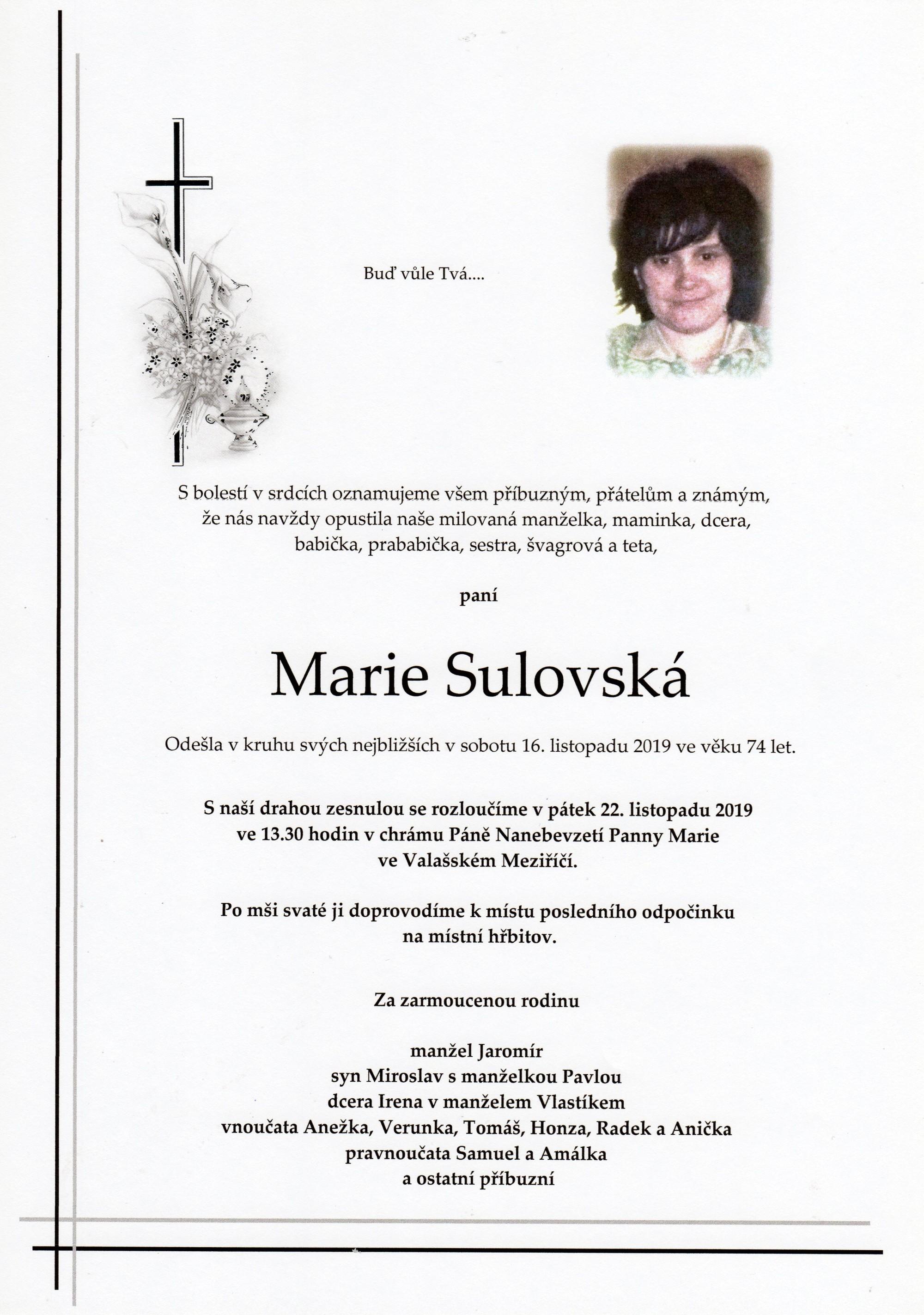 Marie Sulovská