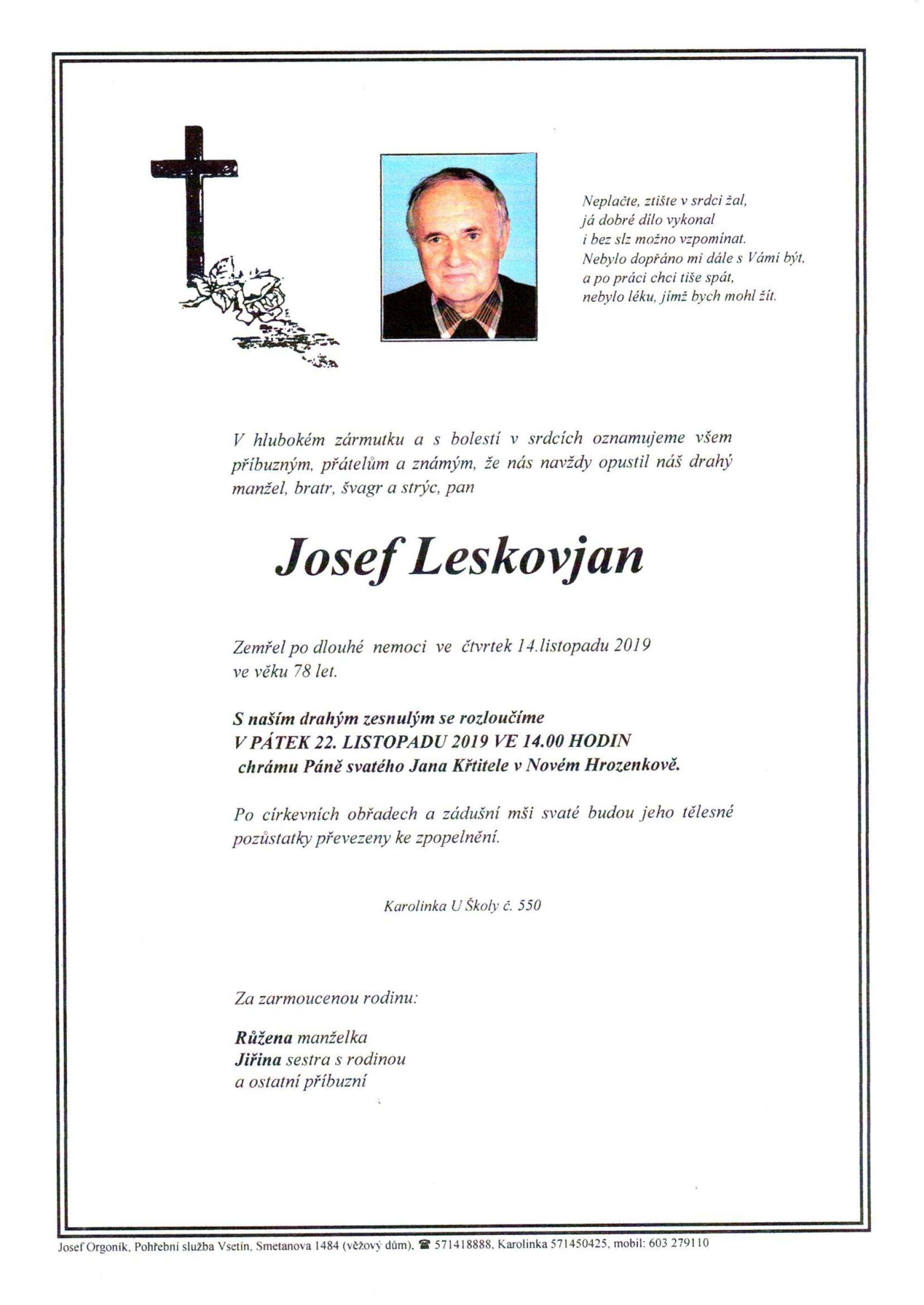 Josef Leskovjan