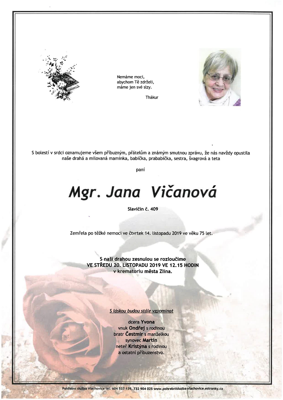 Mgr. Jana Vičanová