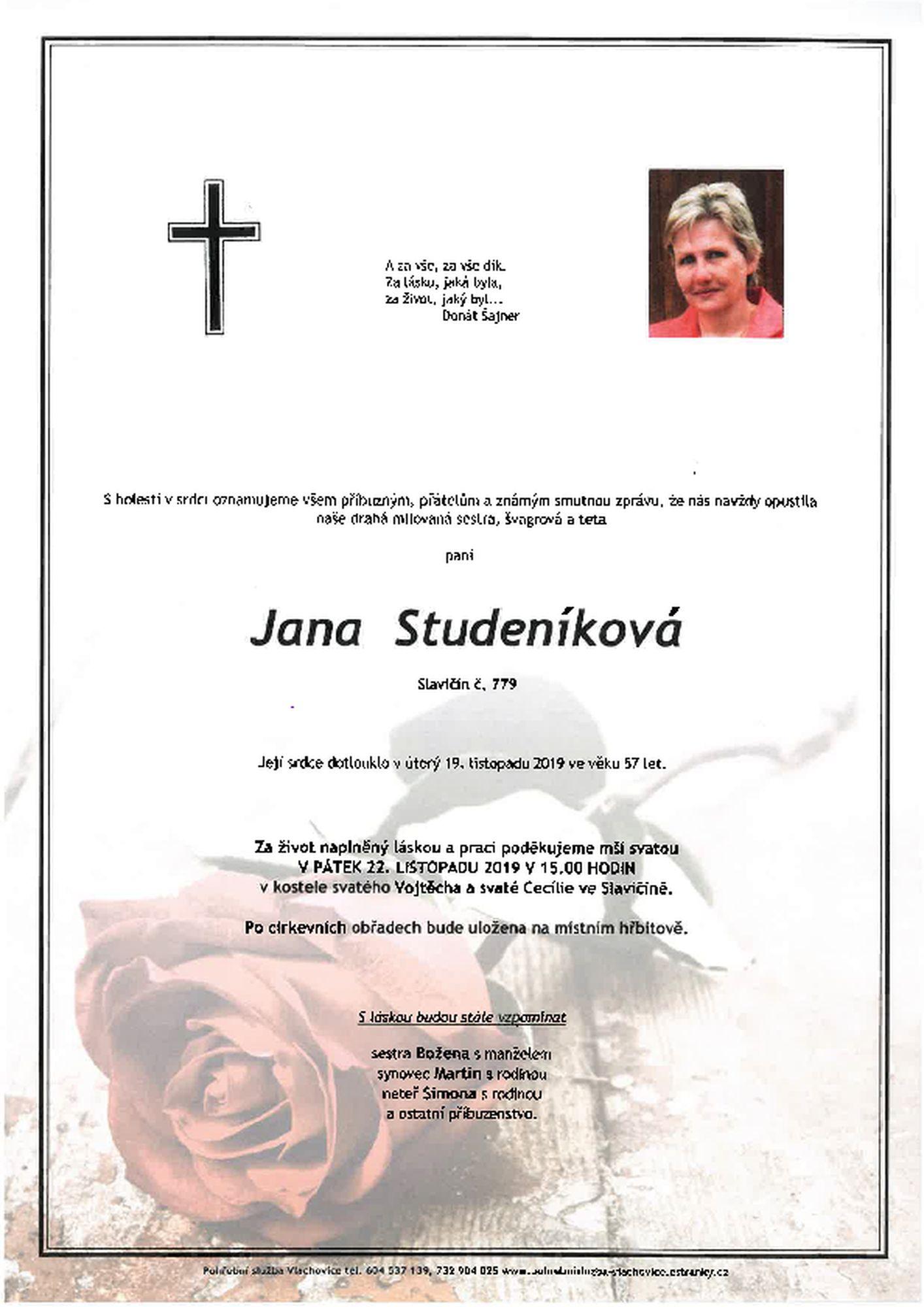 Jana Studeníková