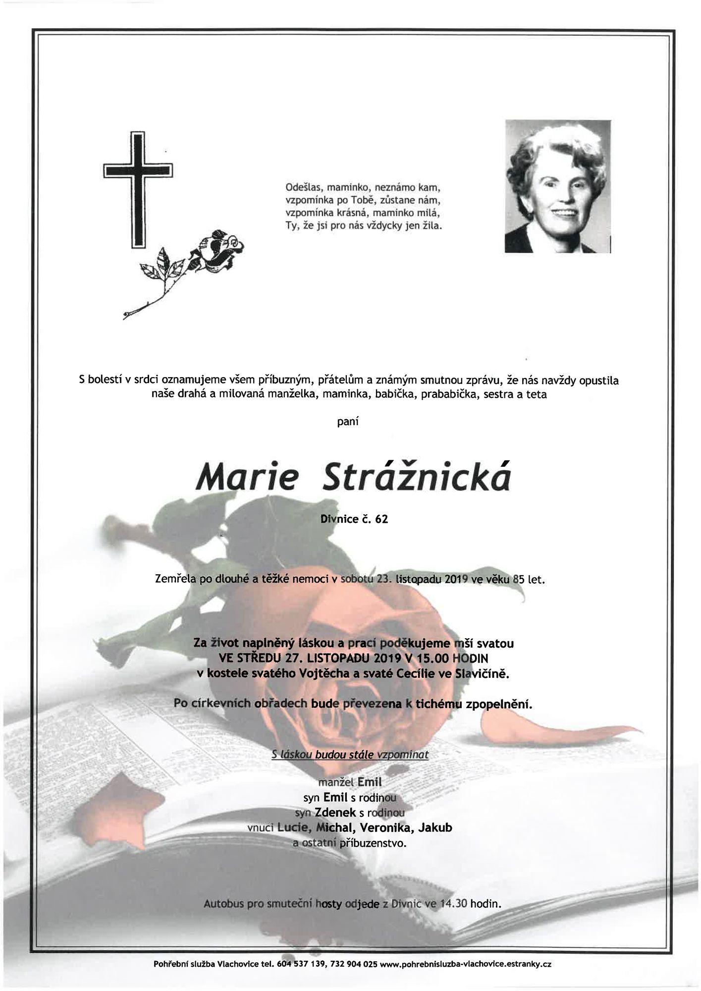 Marie Strážnická