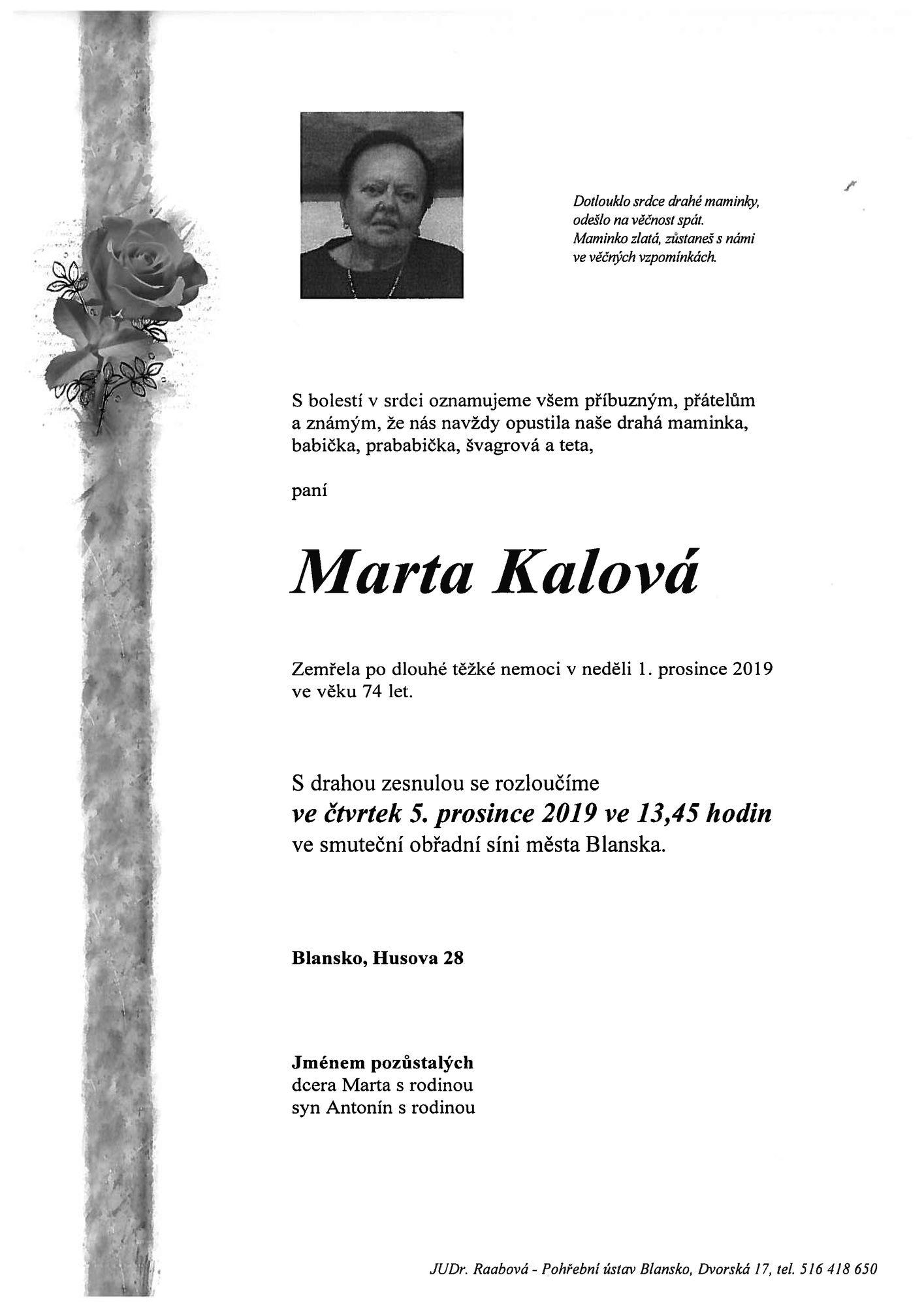 Marta Kalová