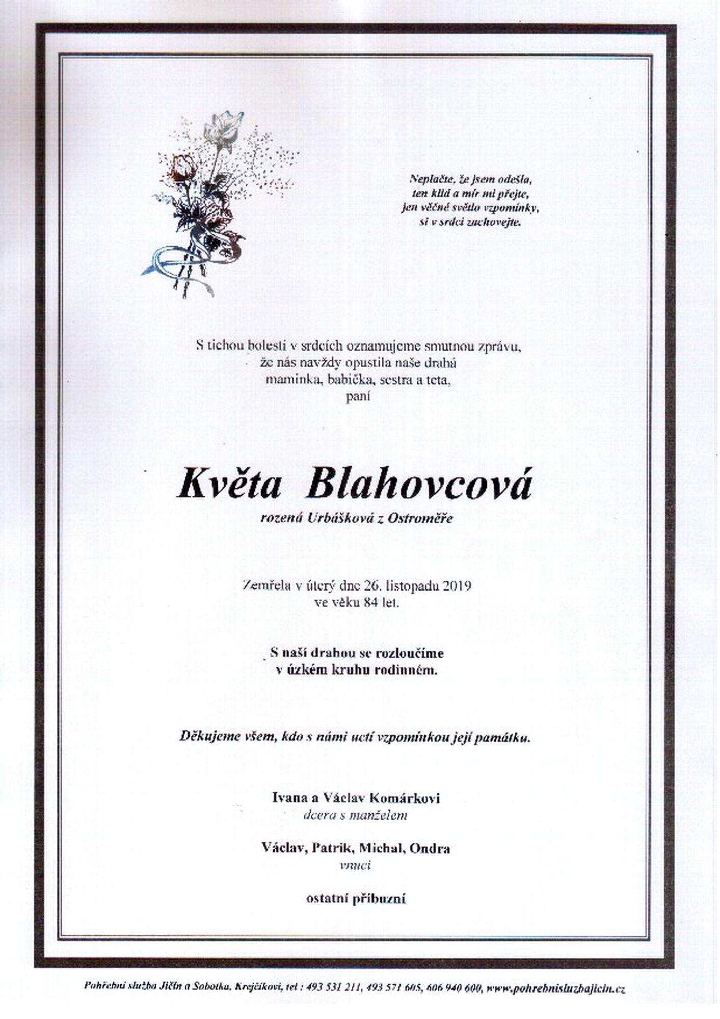 Květa Blahovcová