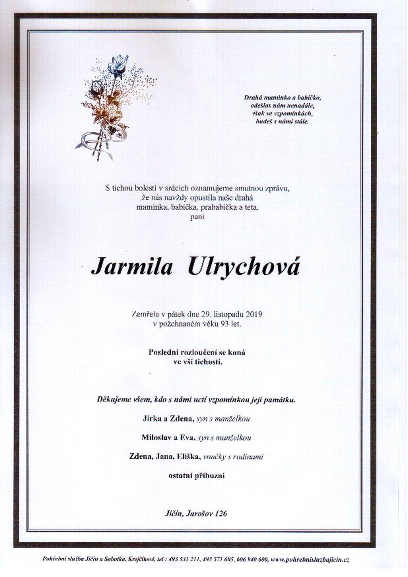 Jarmila Ulrychová