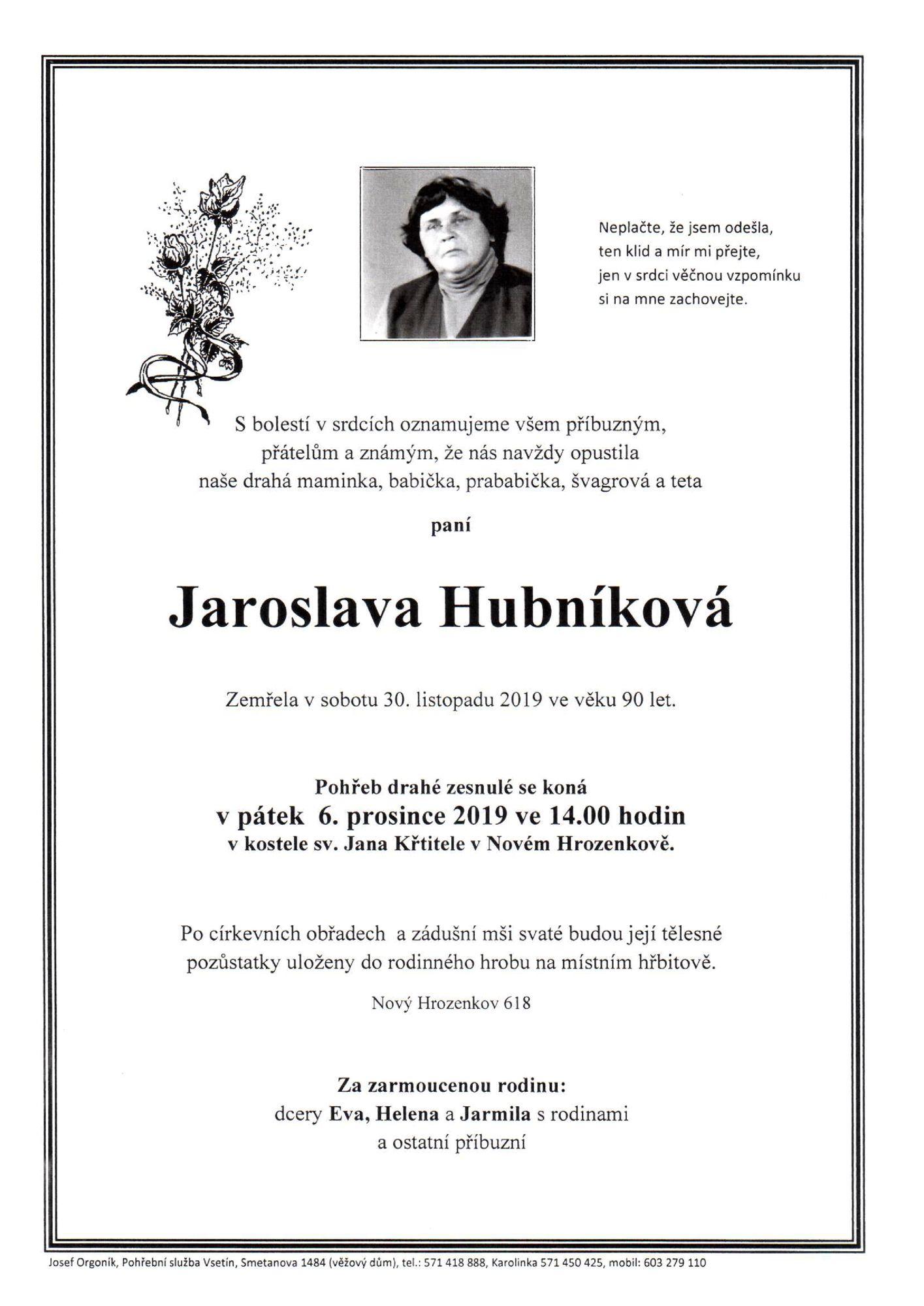 Jaroslava Hubníková
