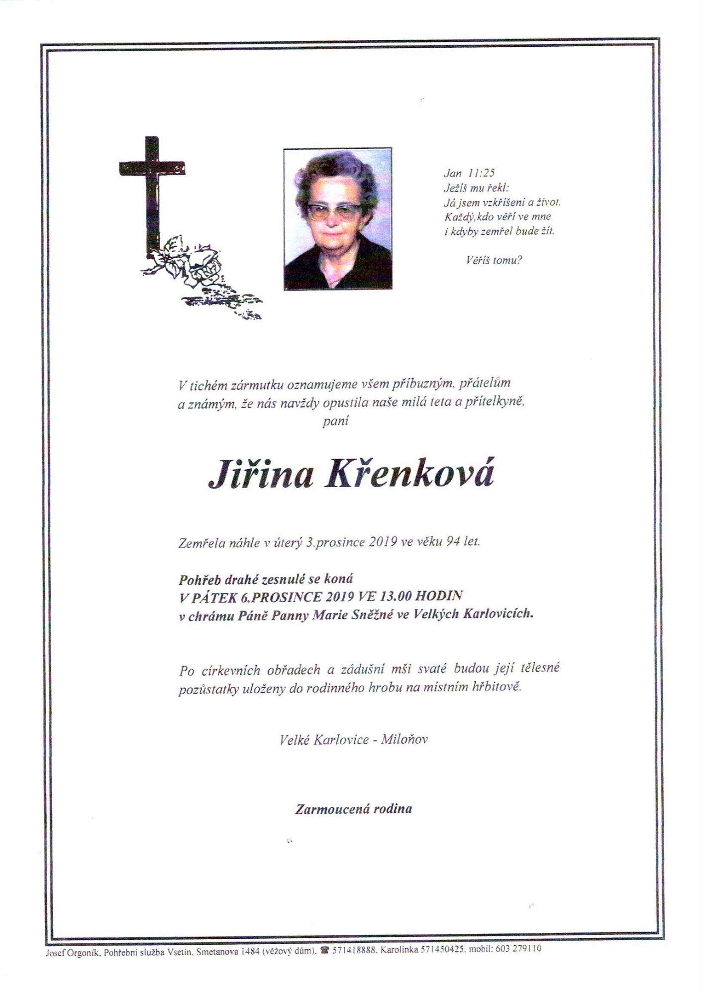 Jiřina Křenková
