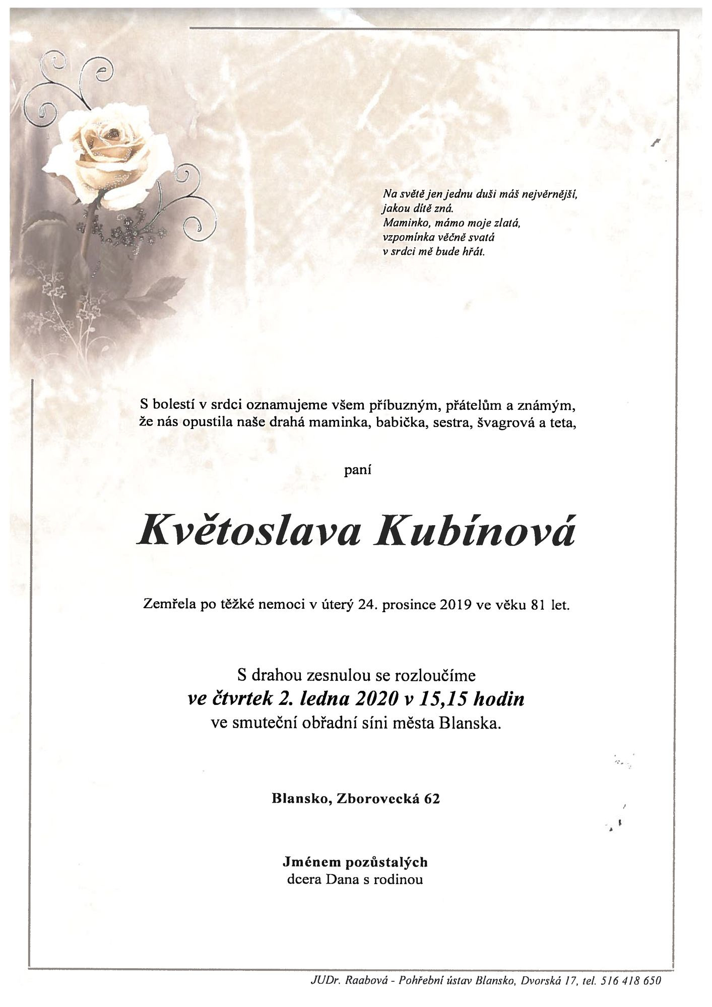 Květoslava Kubínová