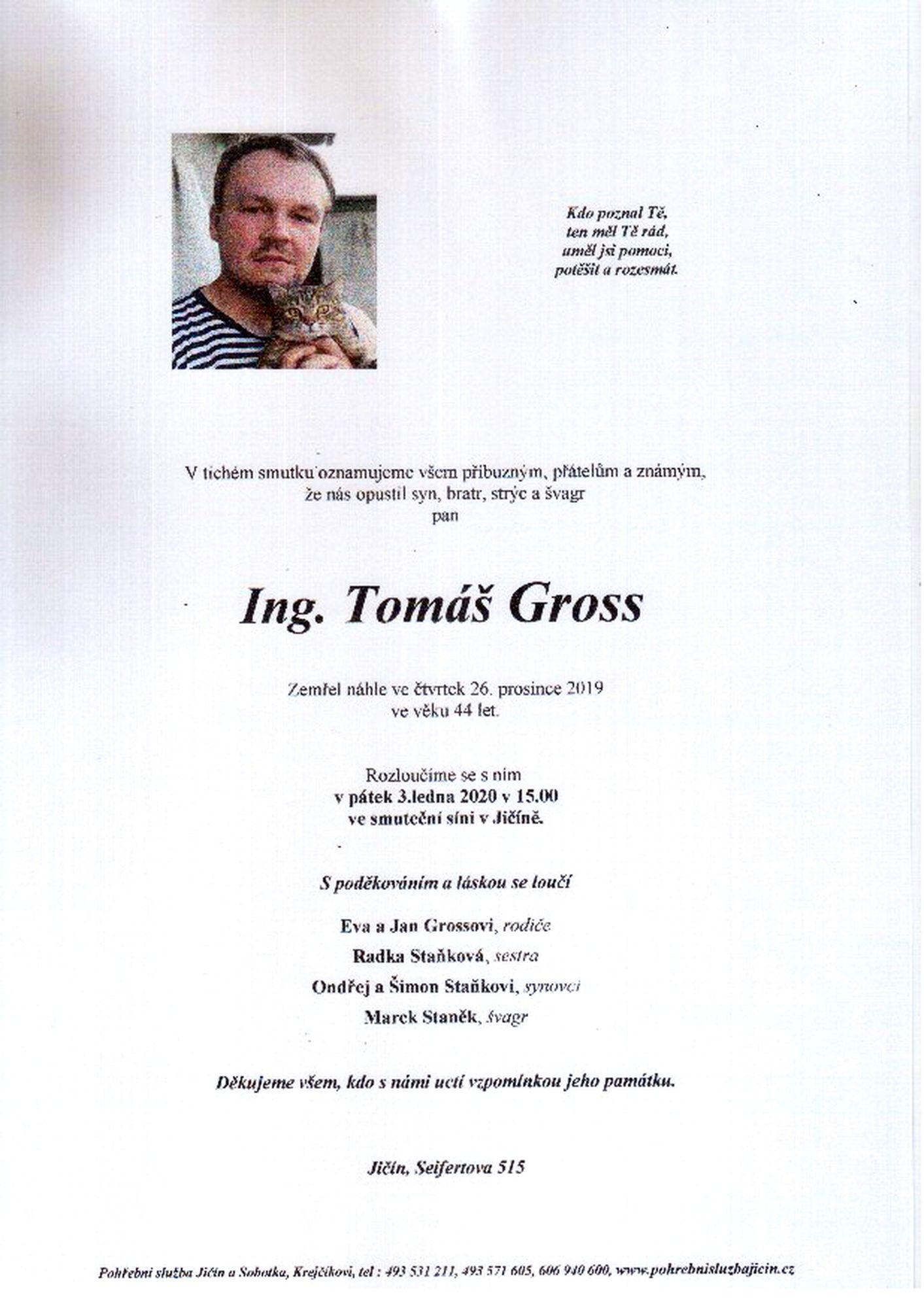 Ing. Tomáš Gross