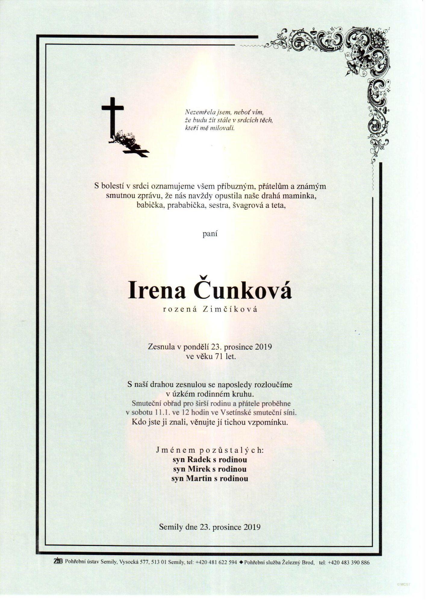 Irena Čunková