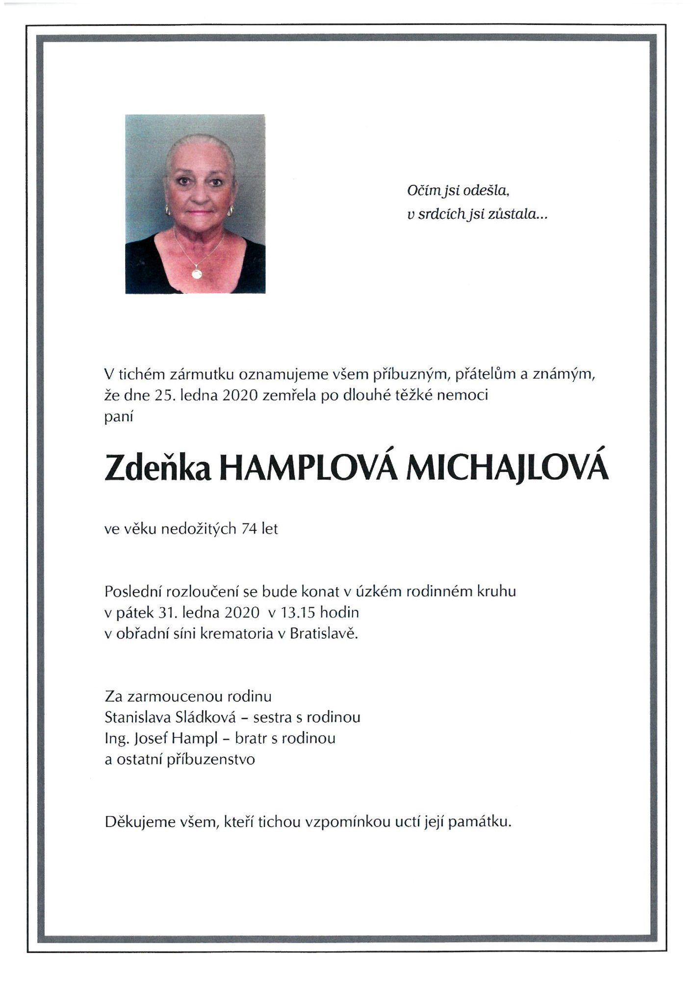 Zdeňka Hamplová Michajlová
