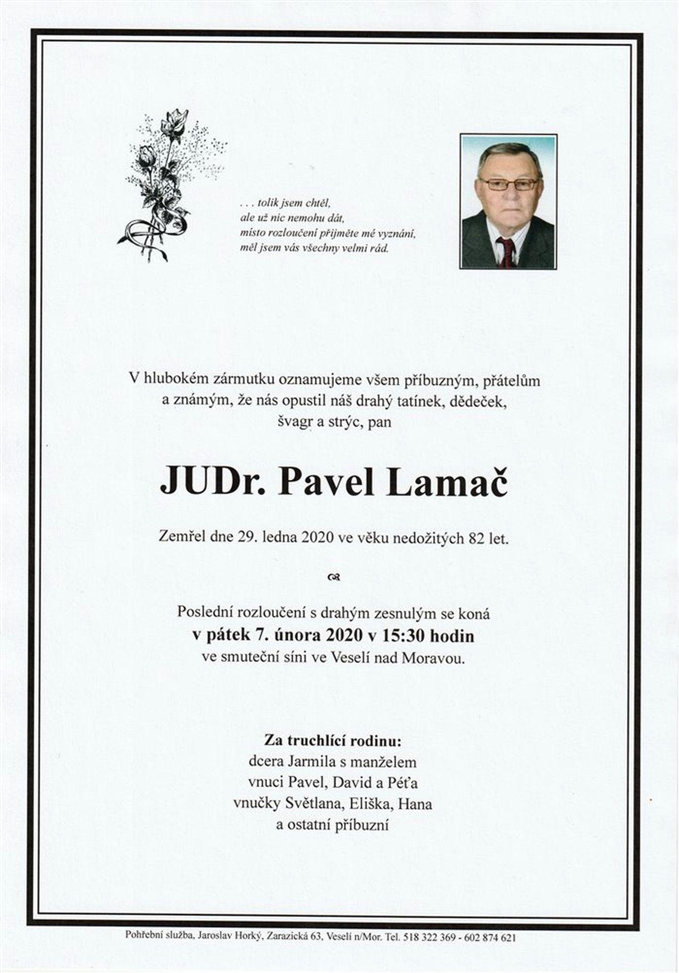 JUDr. Pavel Lamač