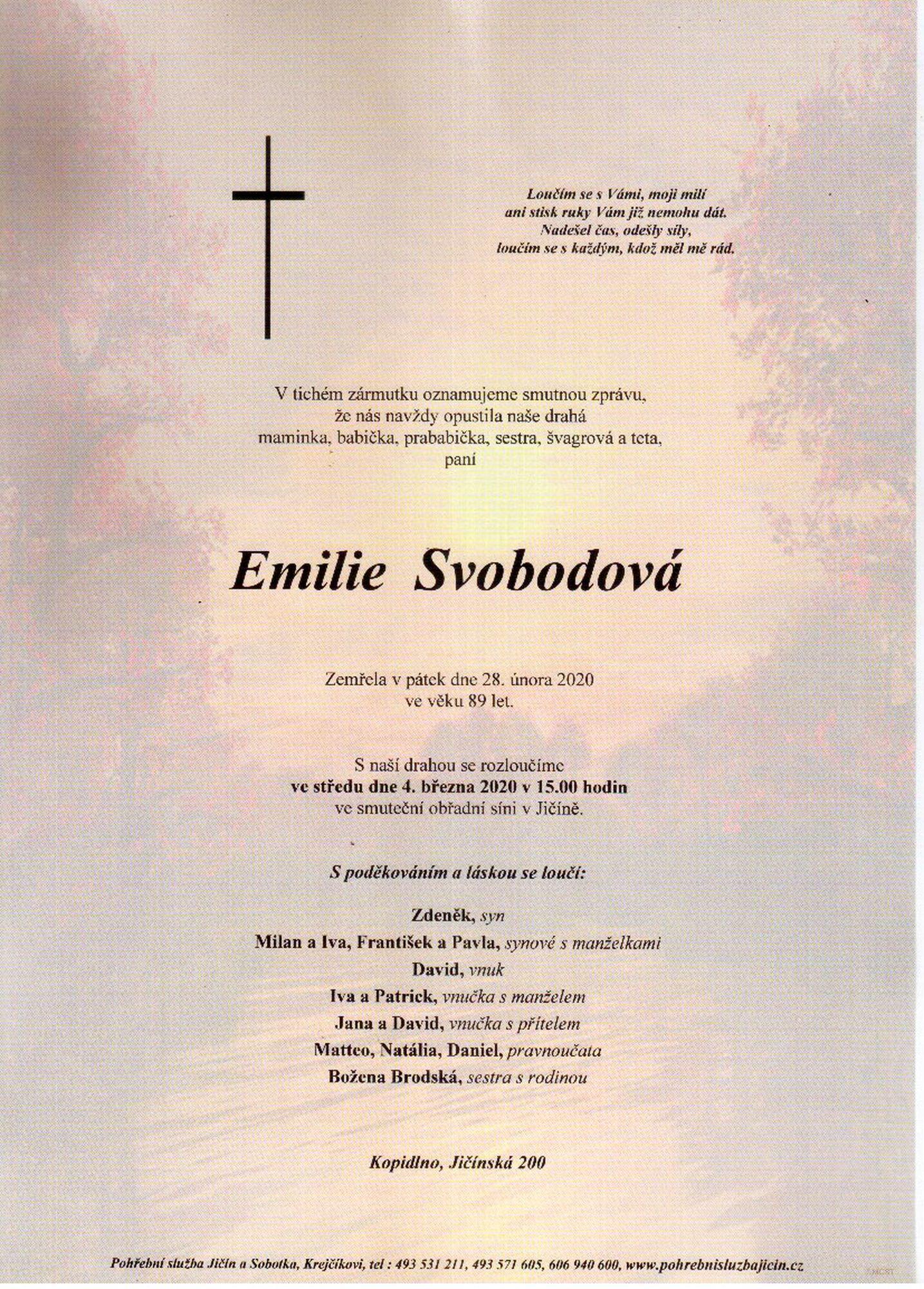 Emilie Svobodová