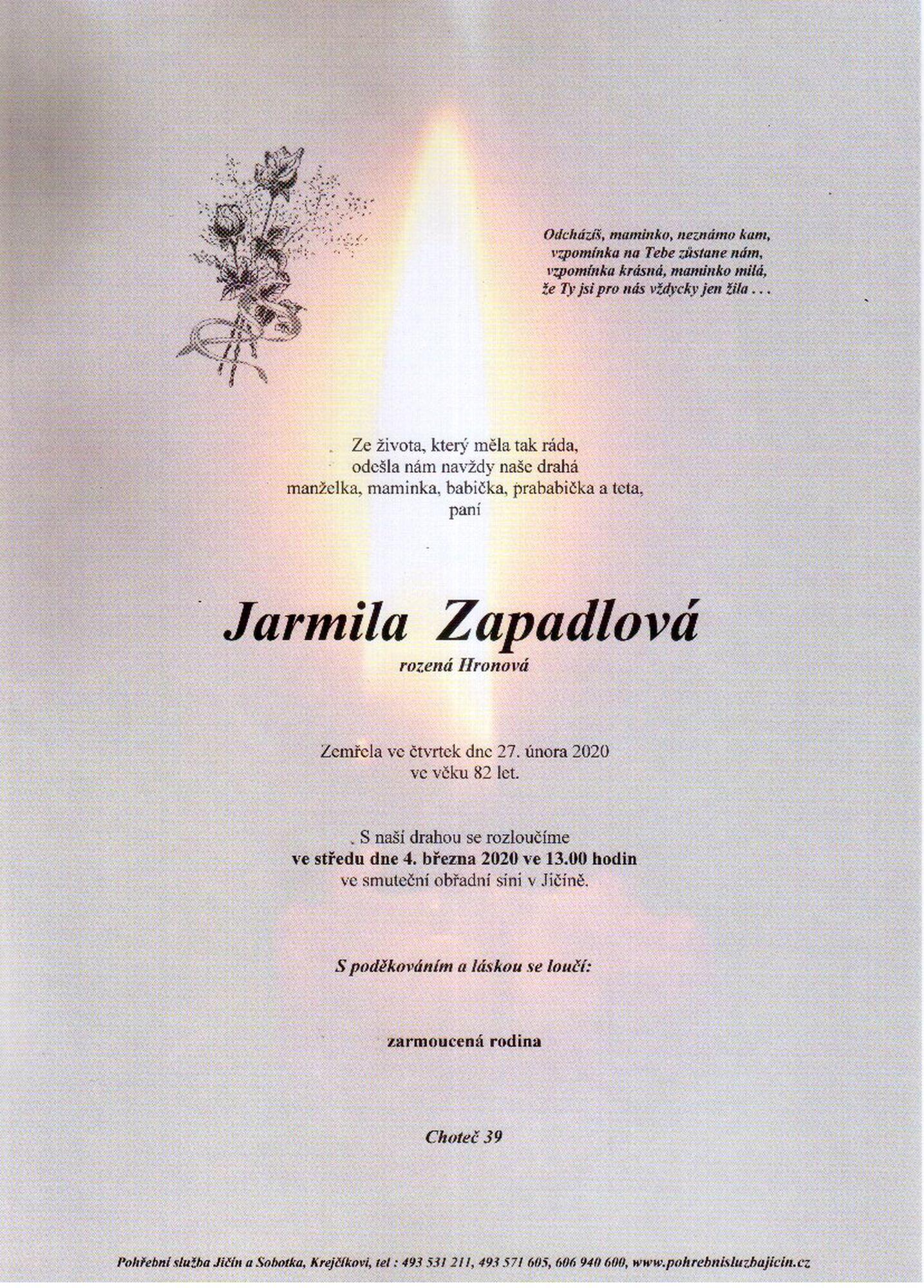 Jarmila Zapadlová