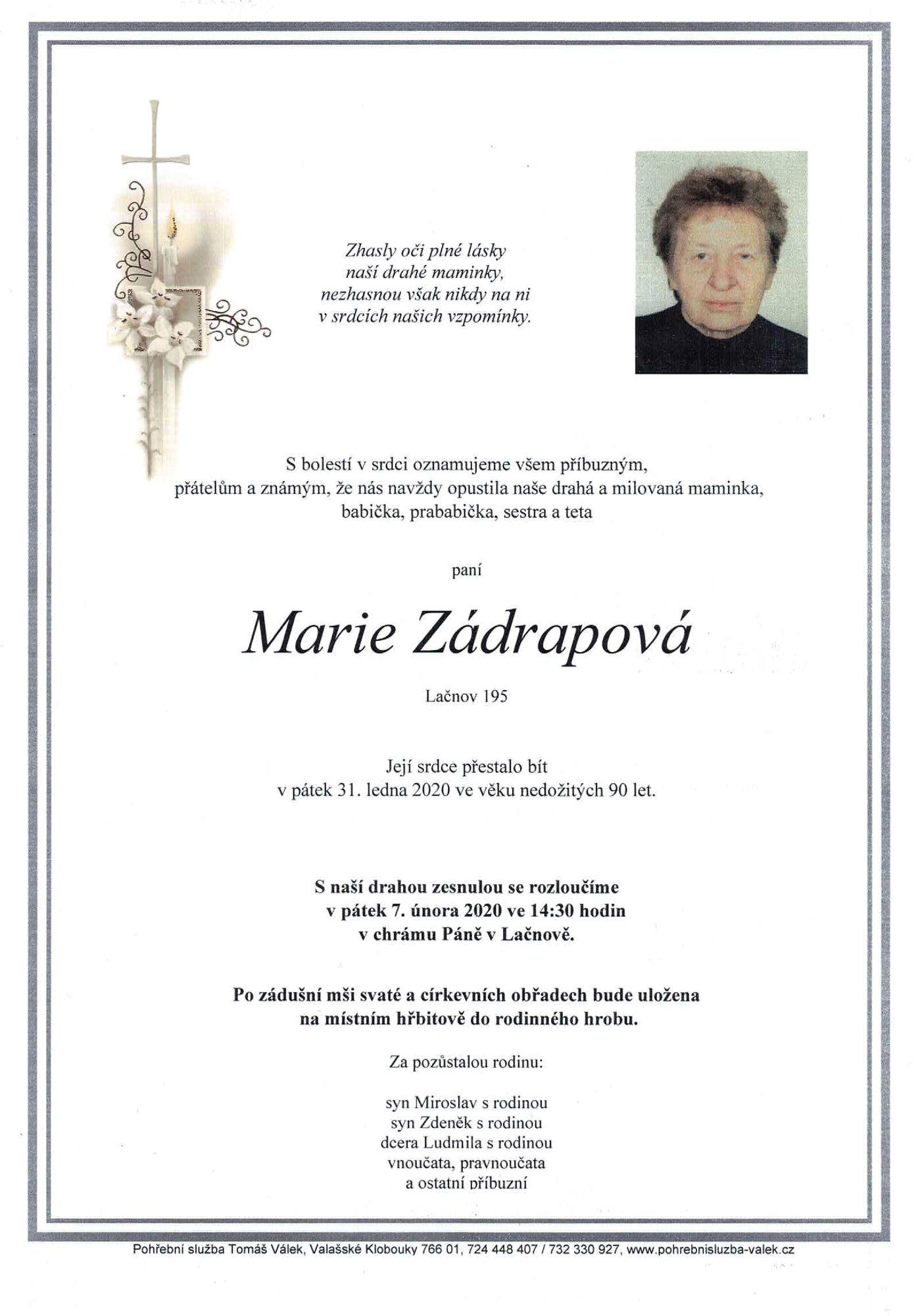 Marie Zádrapová