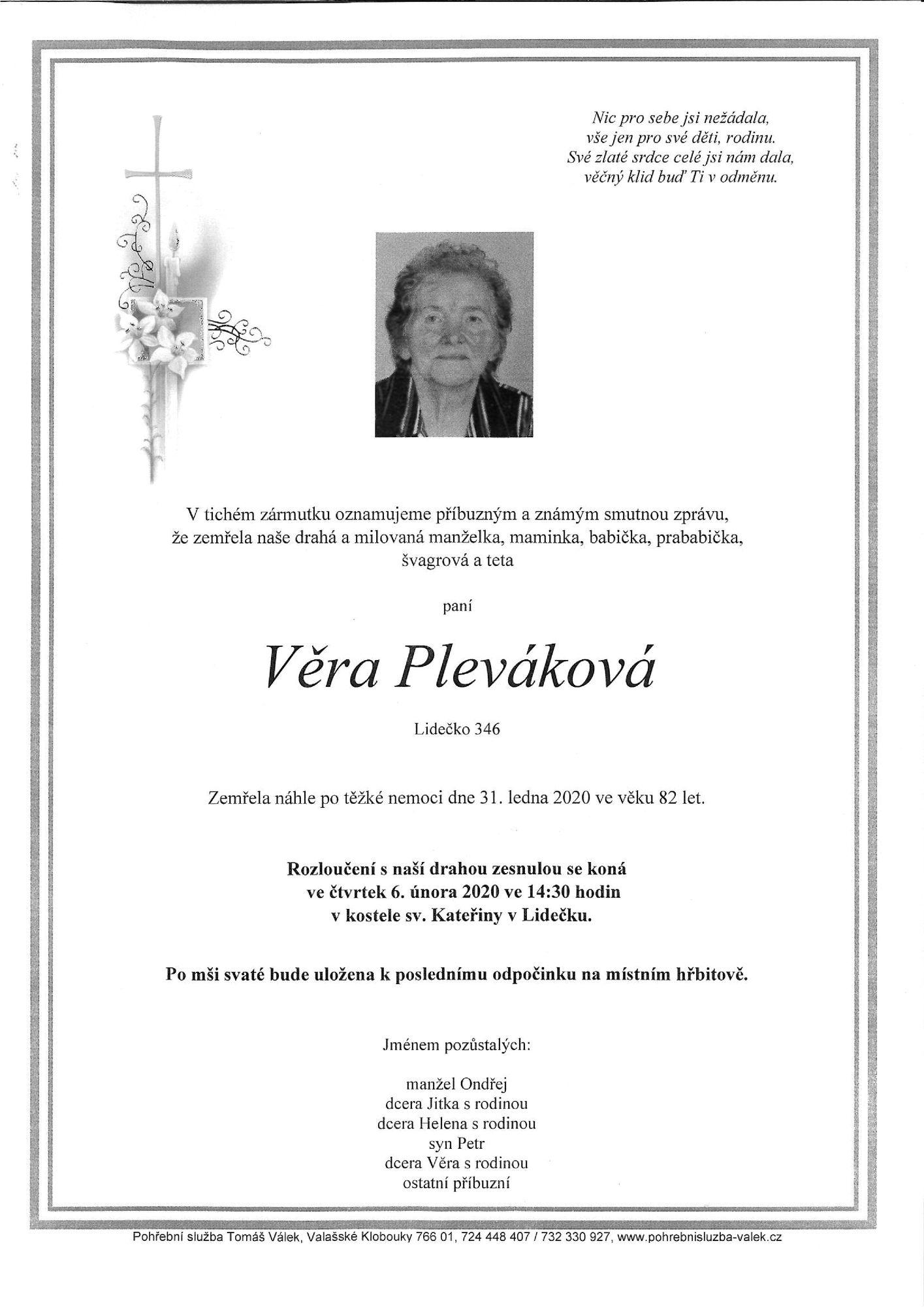 Věra Pleváková