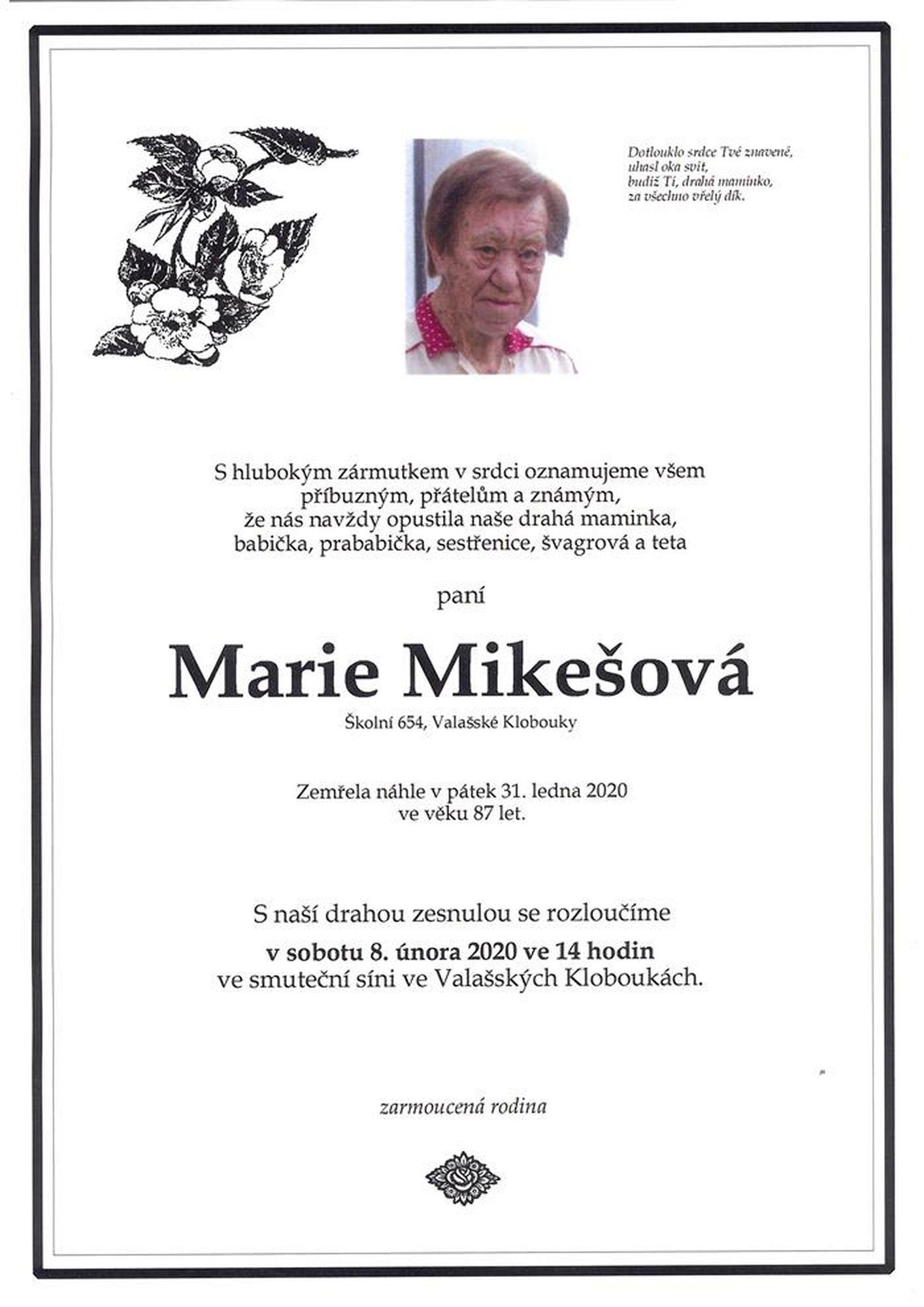 Marie Mikešová