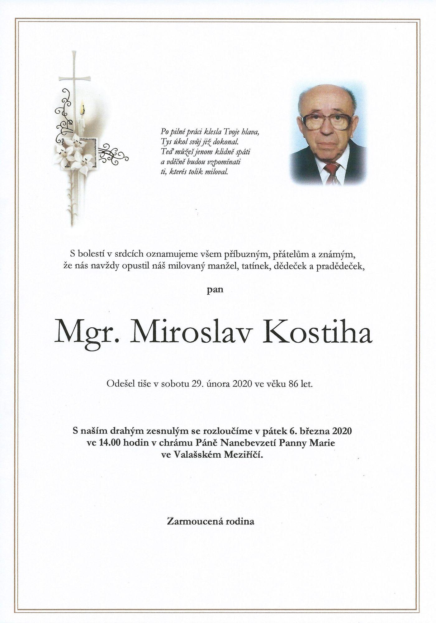 Mgr. Miroslav Kostiha