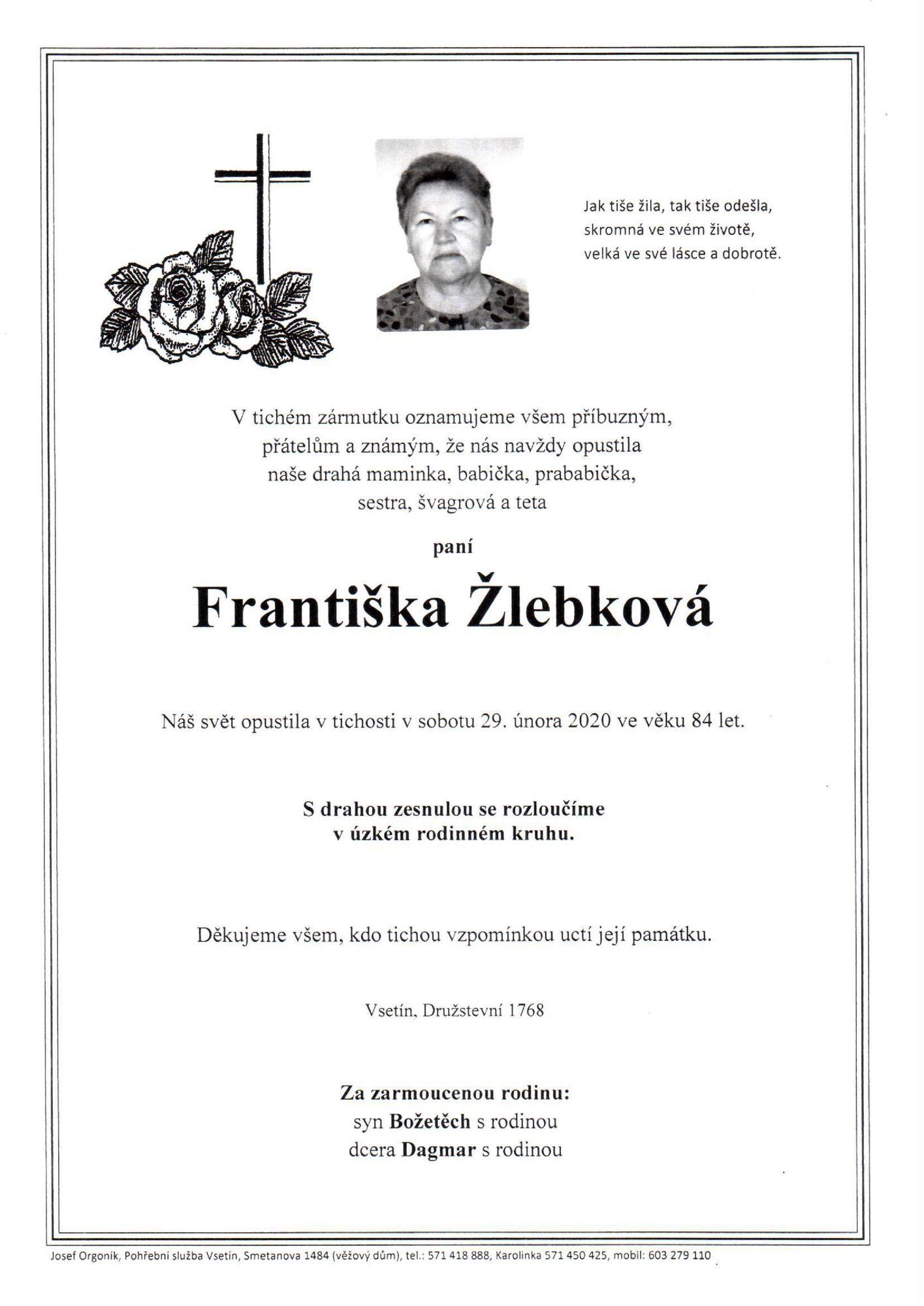 Františka Žlebková