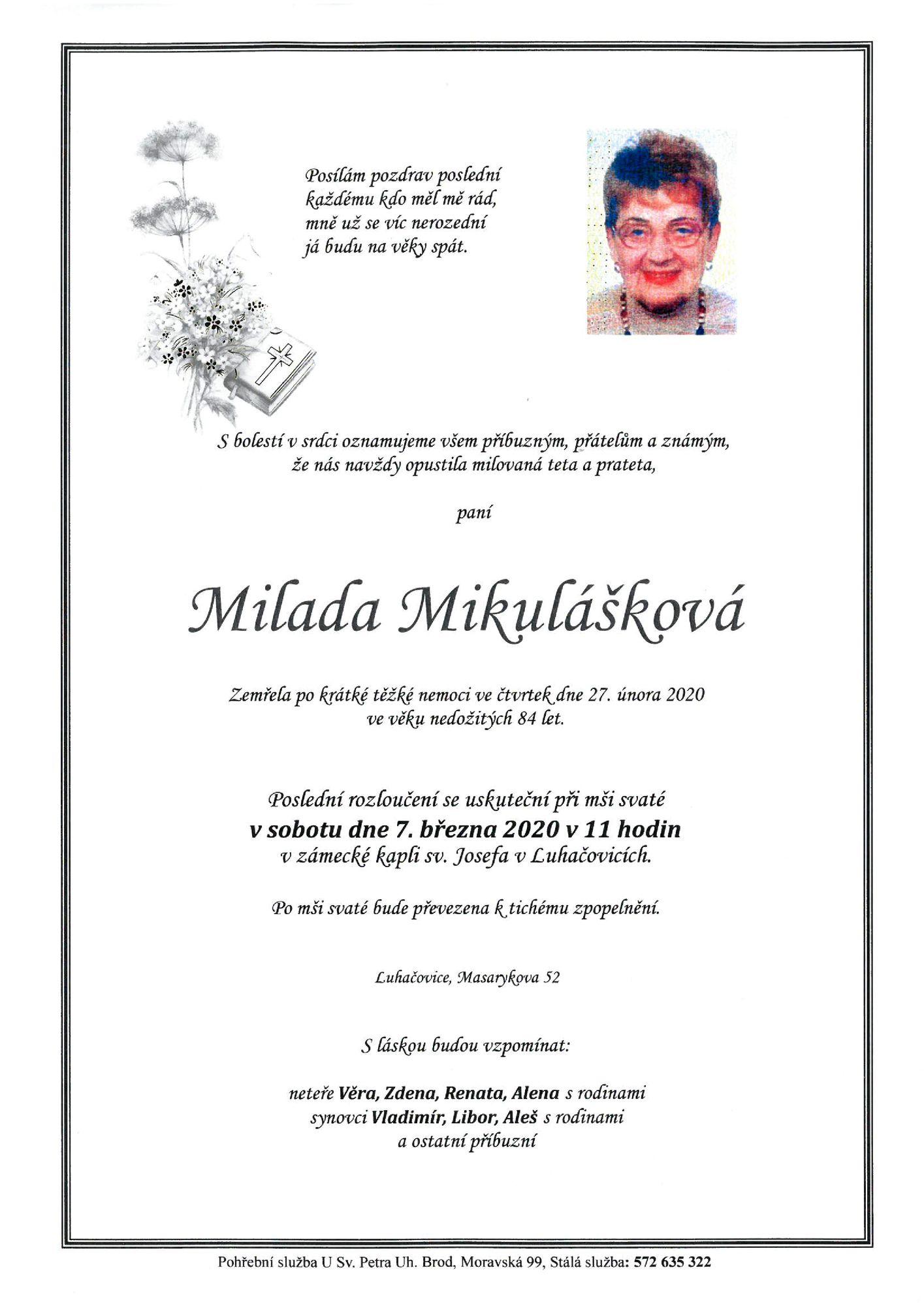 Milada Mikulášková