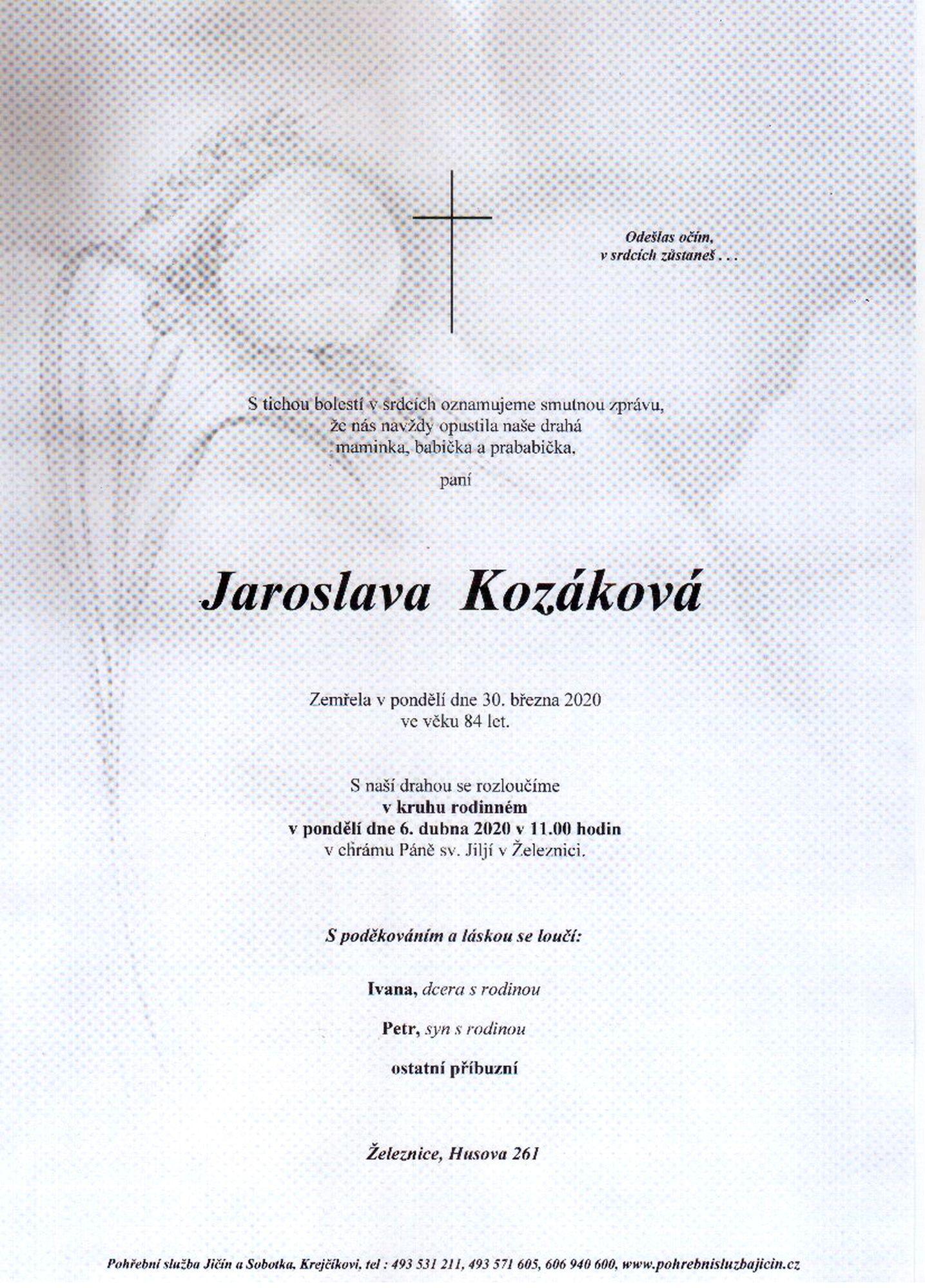 Jaroslava Kozáková