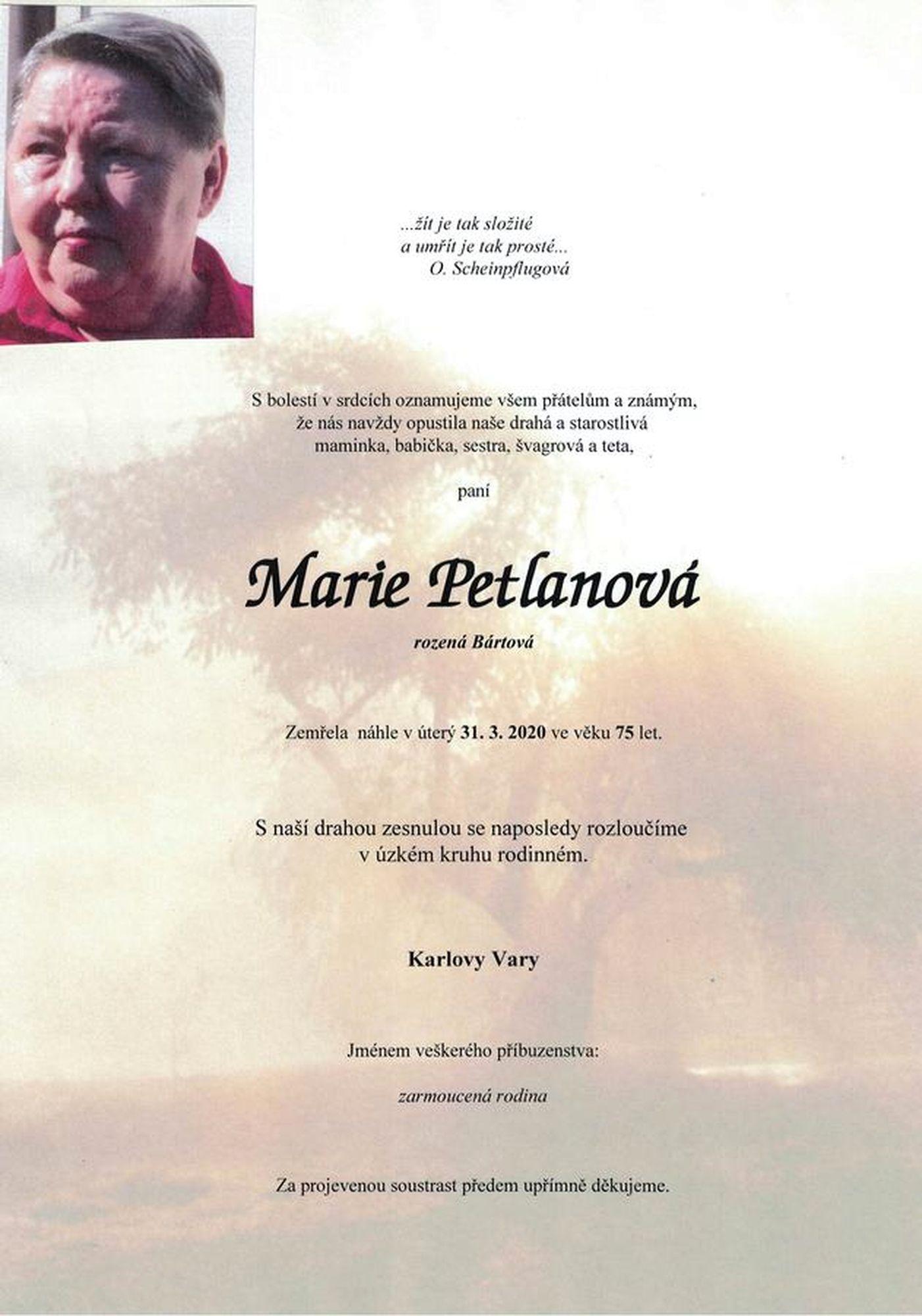 Marie Petlanová