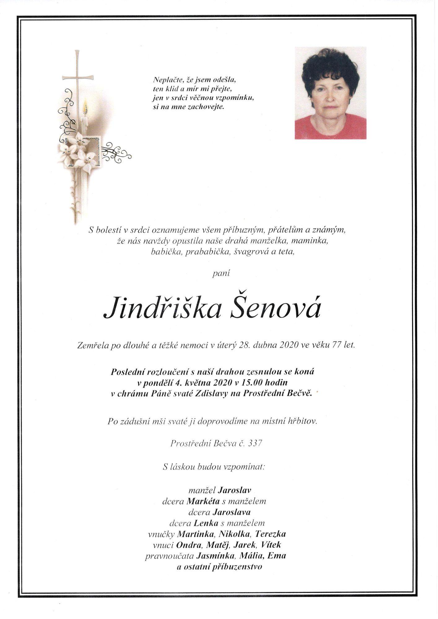 Jindřiška Šenová