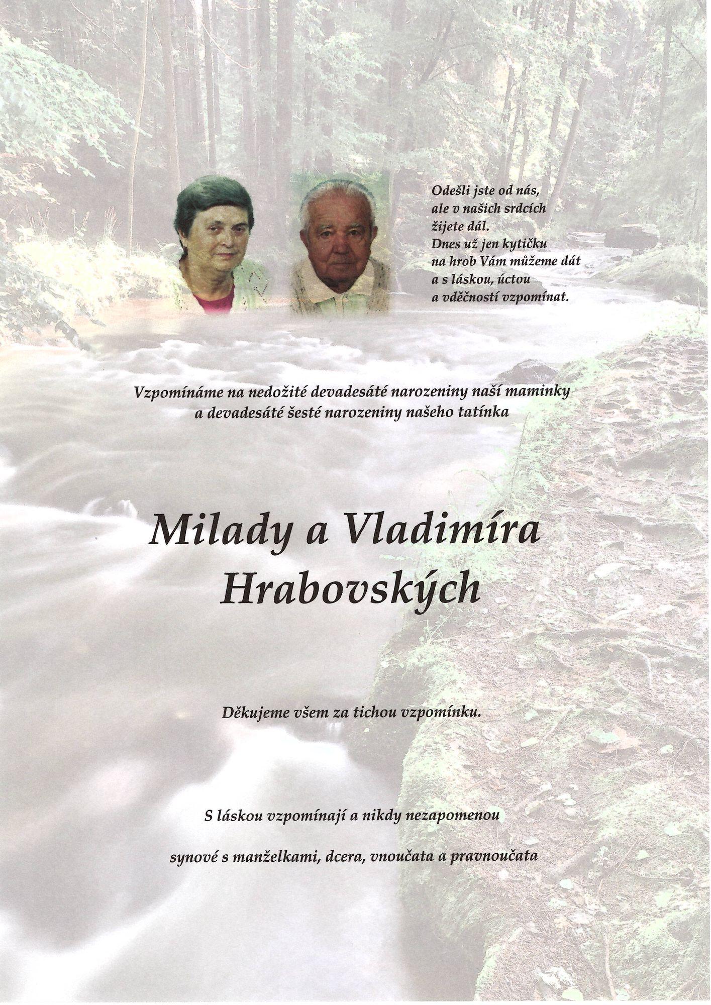 Milada a Vladimír Hrabovských