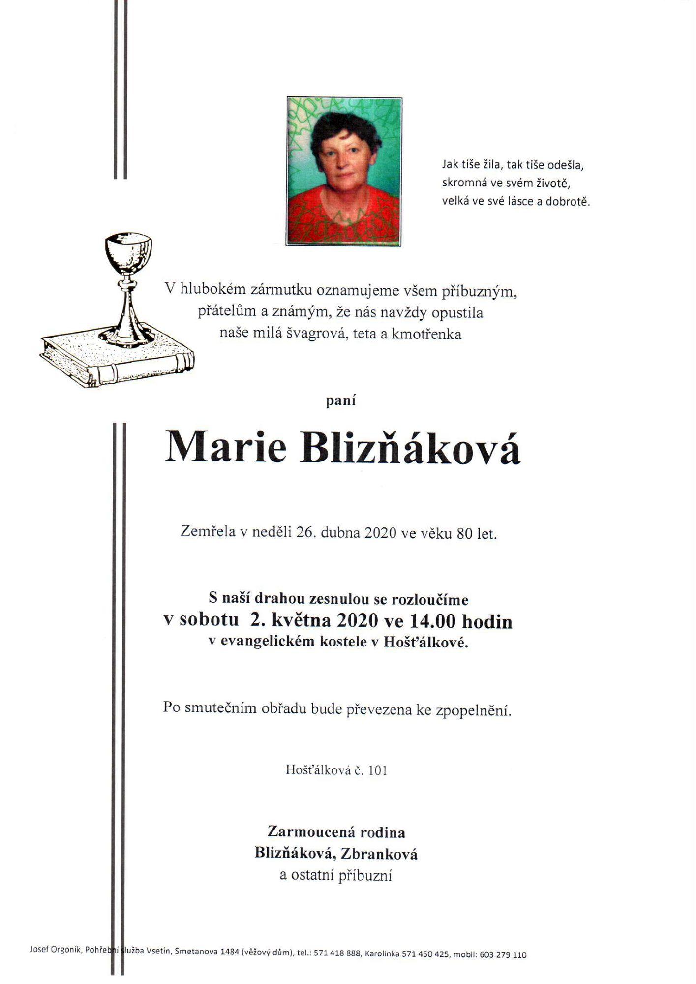 Marie Blizňáková