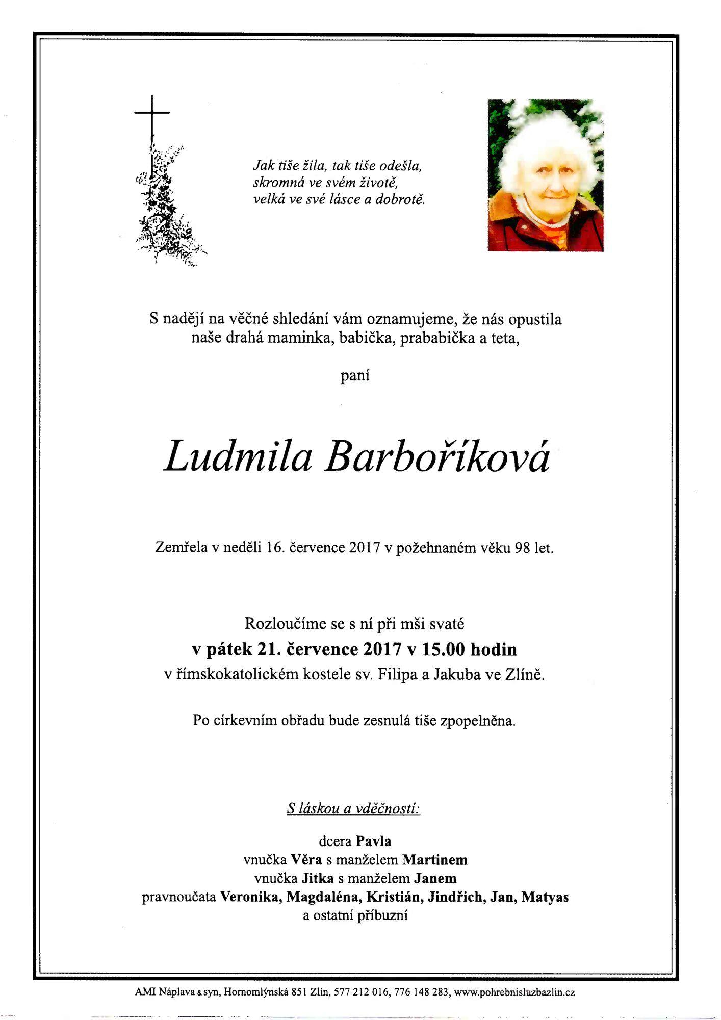 Ludmila Barboříková