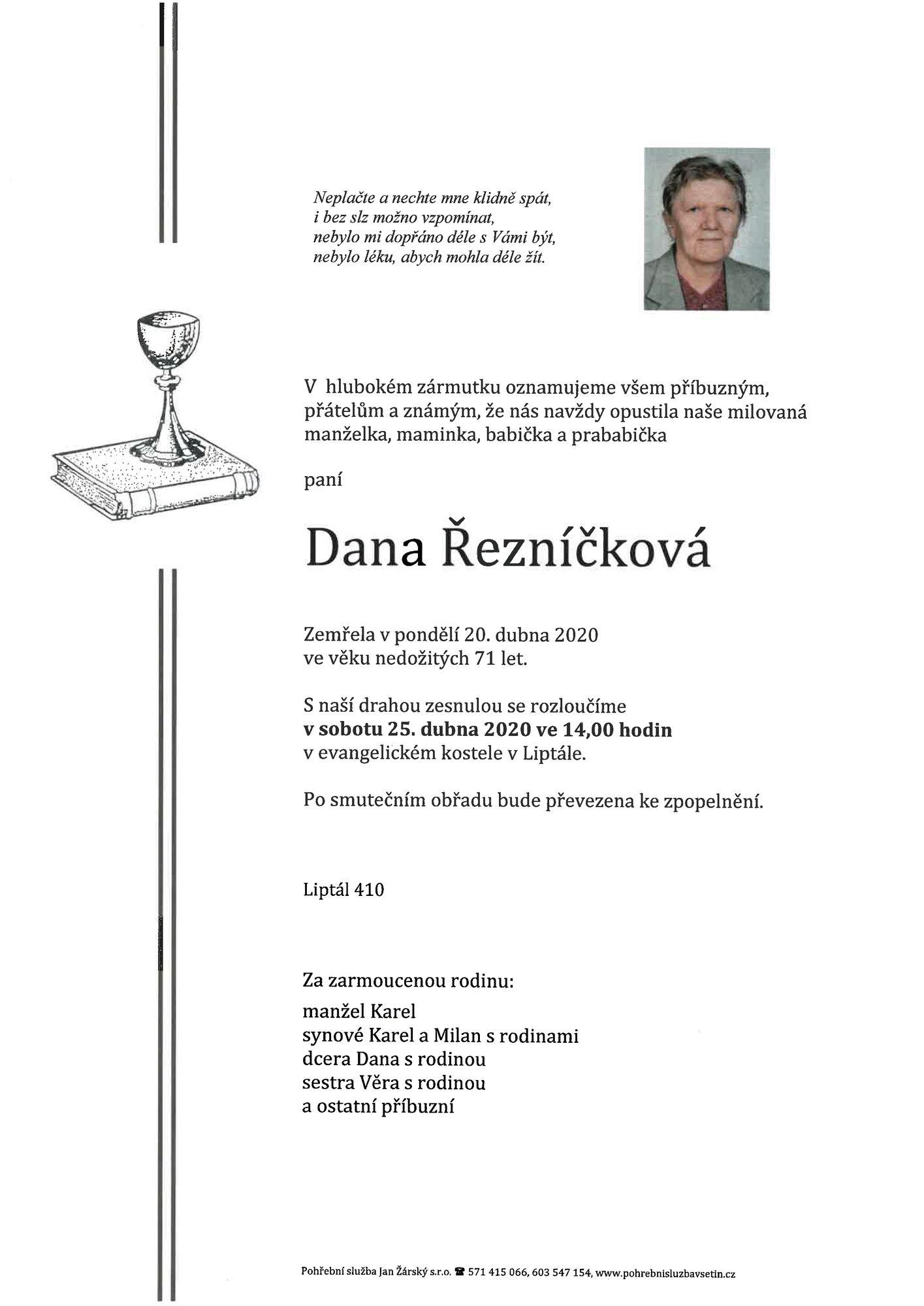 Dana Řezníčková