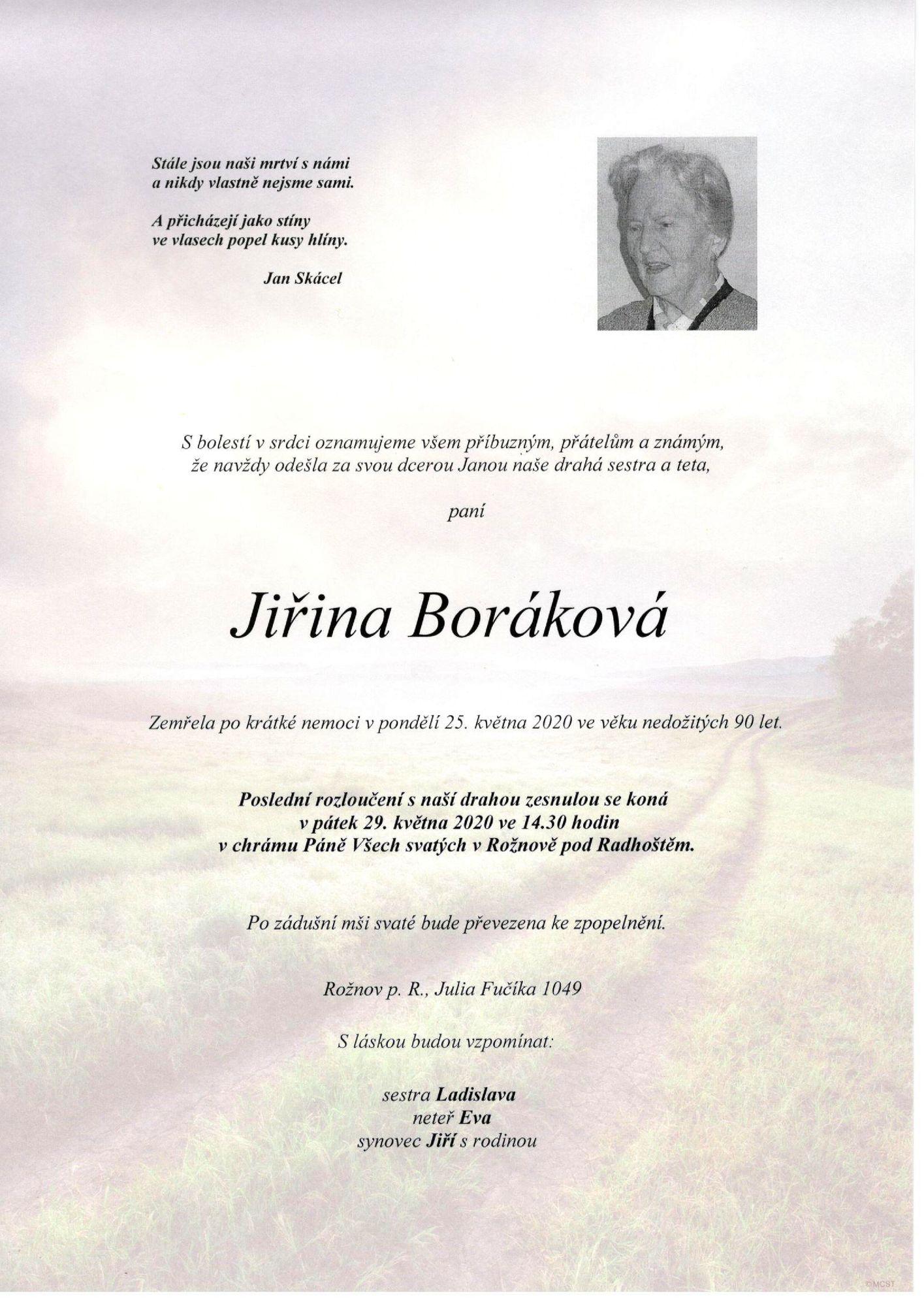 Jiřina Boráková