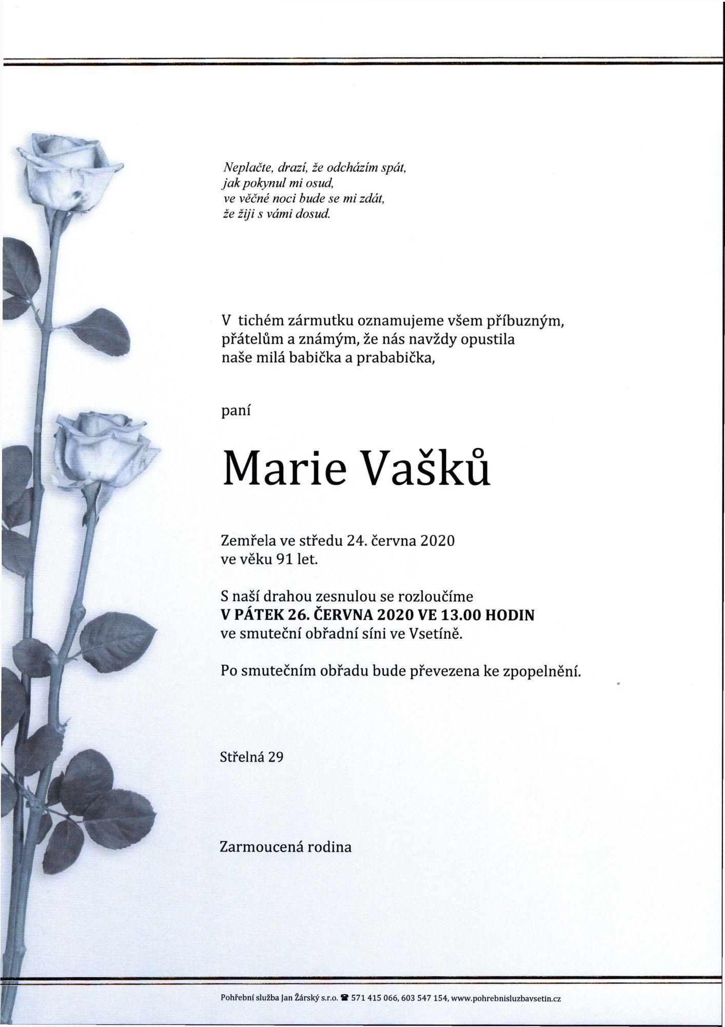 Marie Vašků