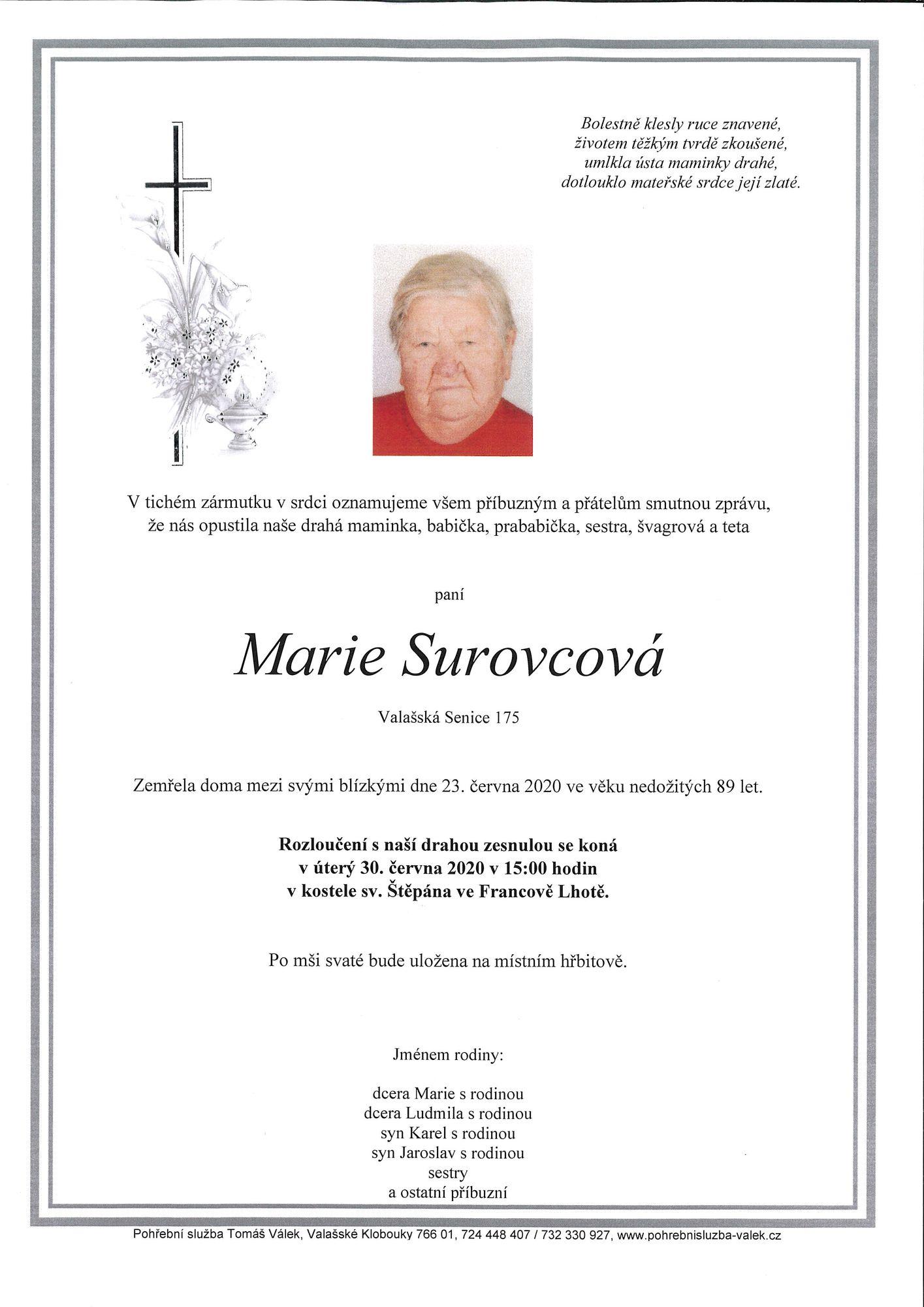 Marie Surovcová