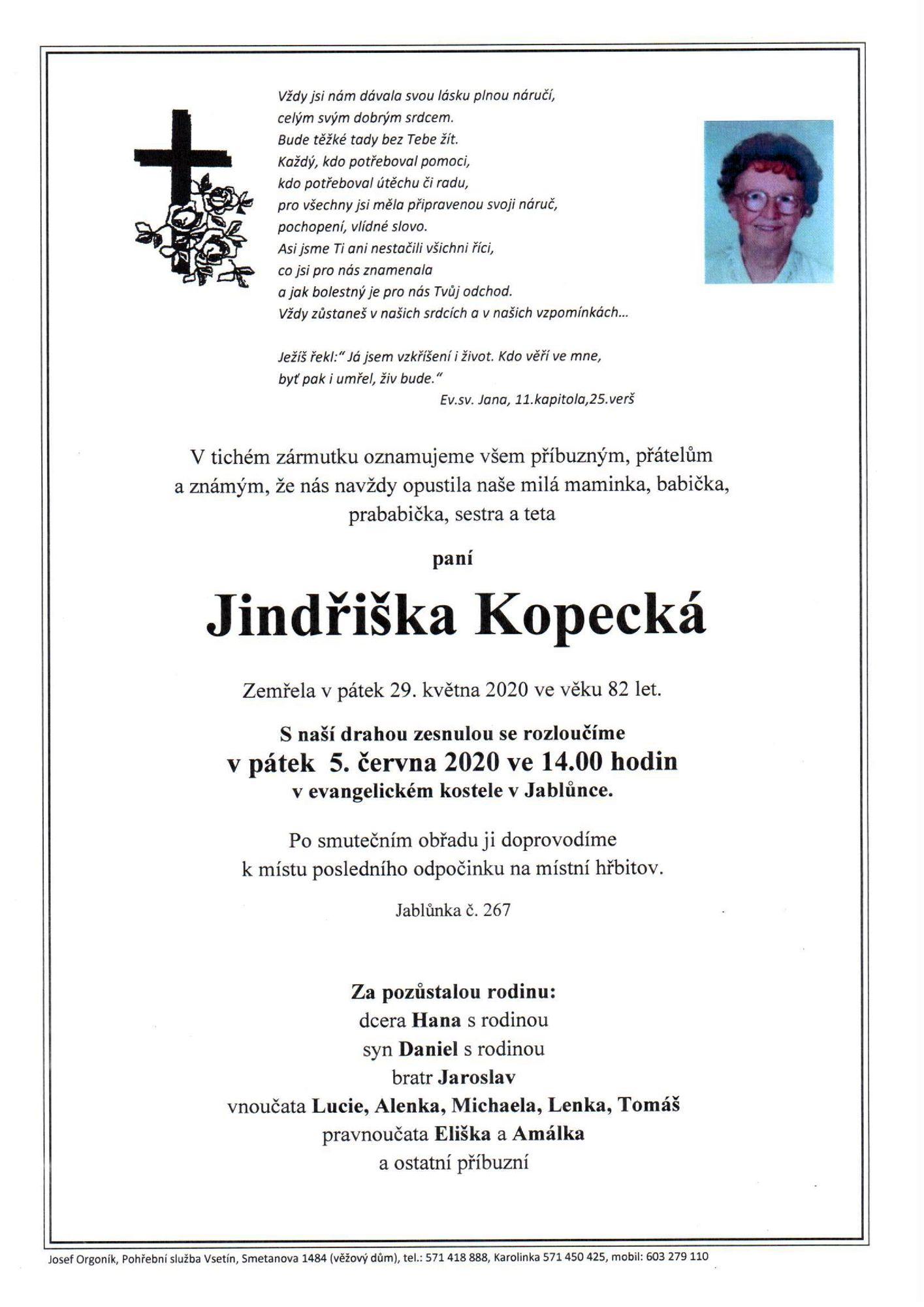 Jindřiška Kopecká