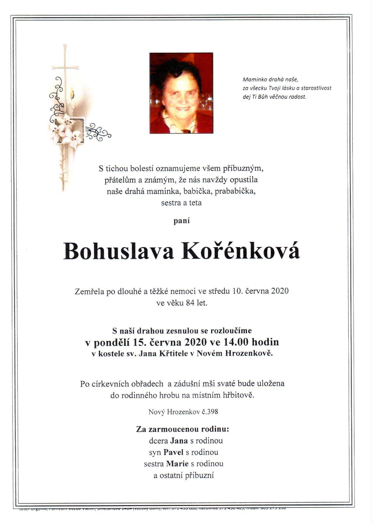 Bohuslava Kořénková