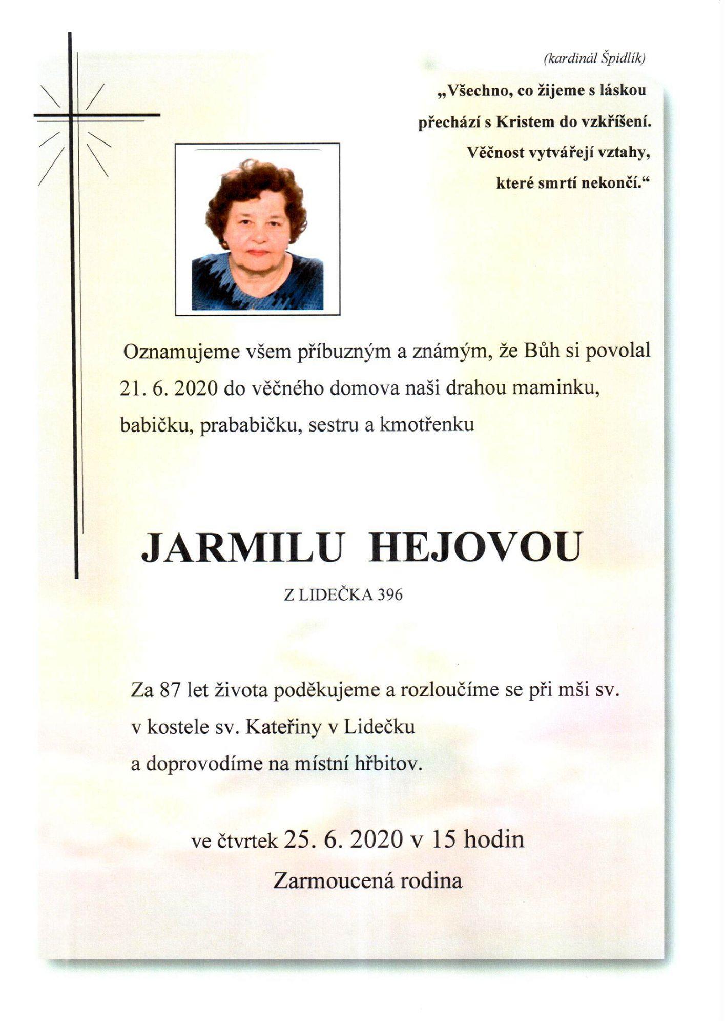 Jarmila Hejová
