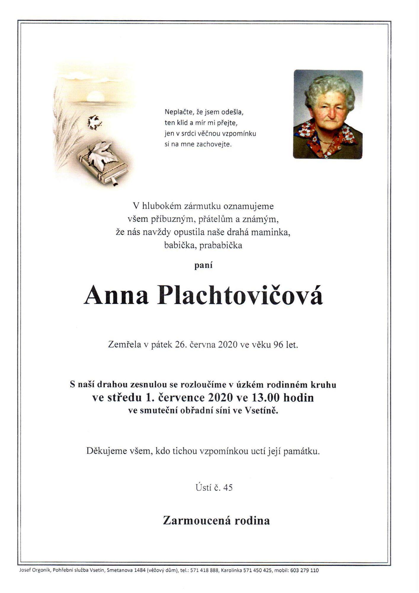 Anna Plachtovičová