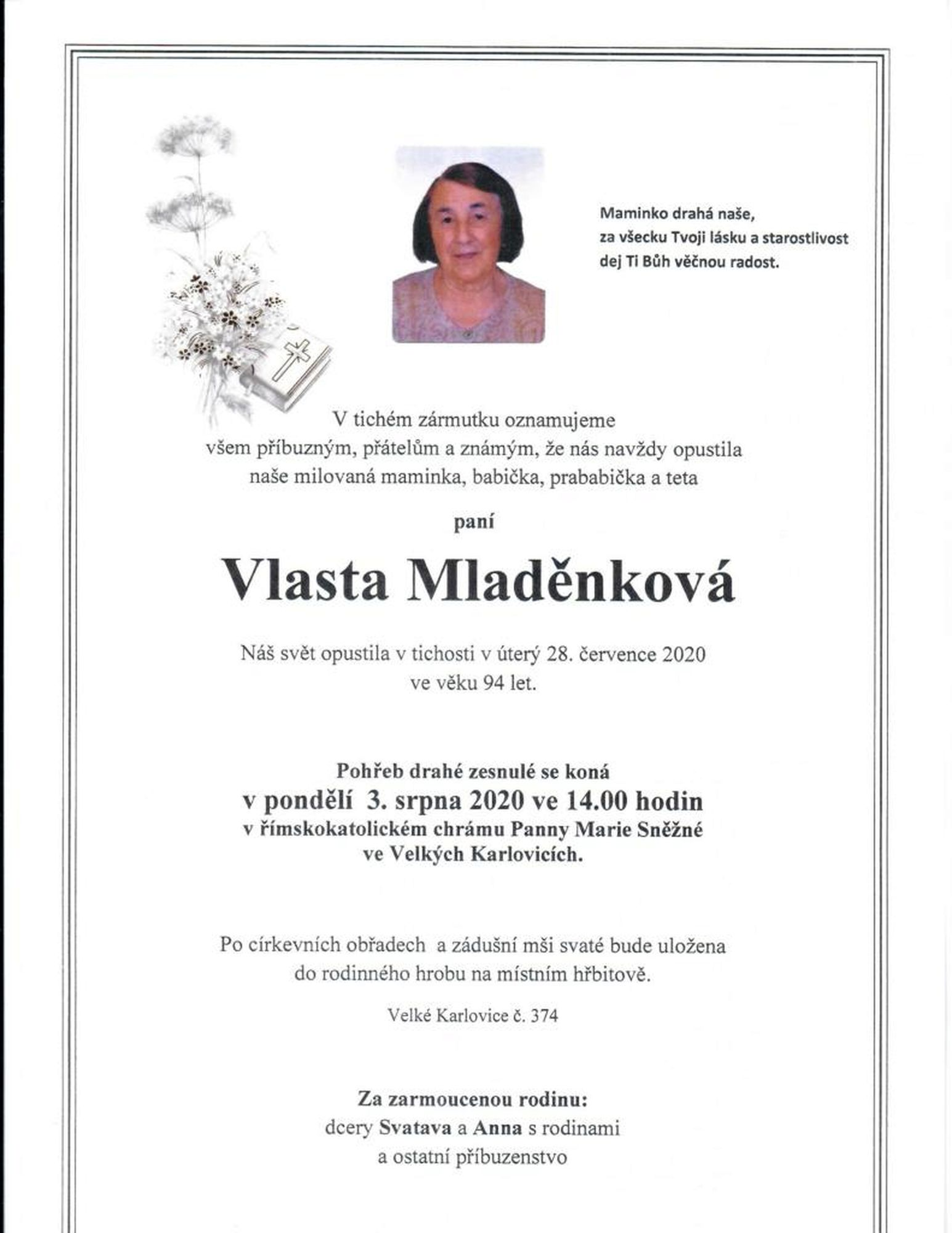 Vlasta Mladěnková