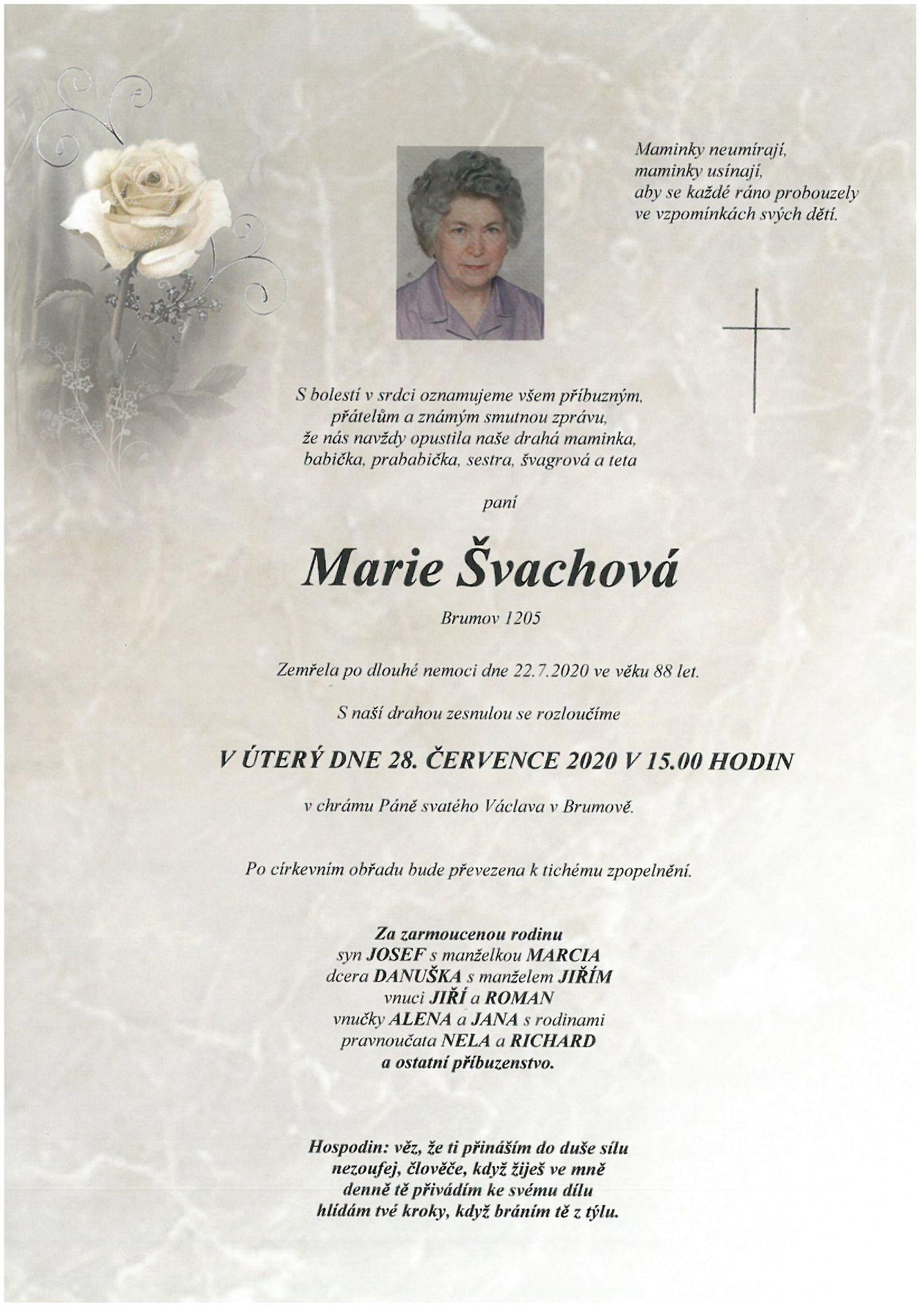 Marie Švachová