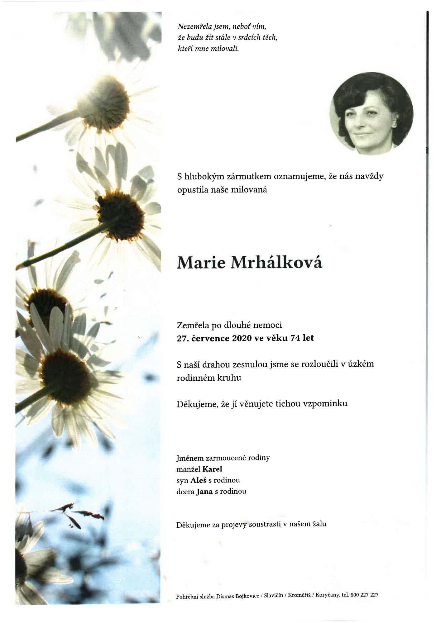 Marie Mrhálková