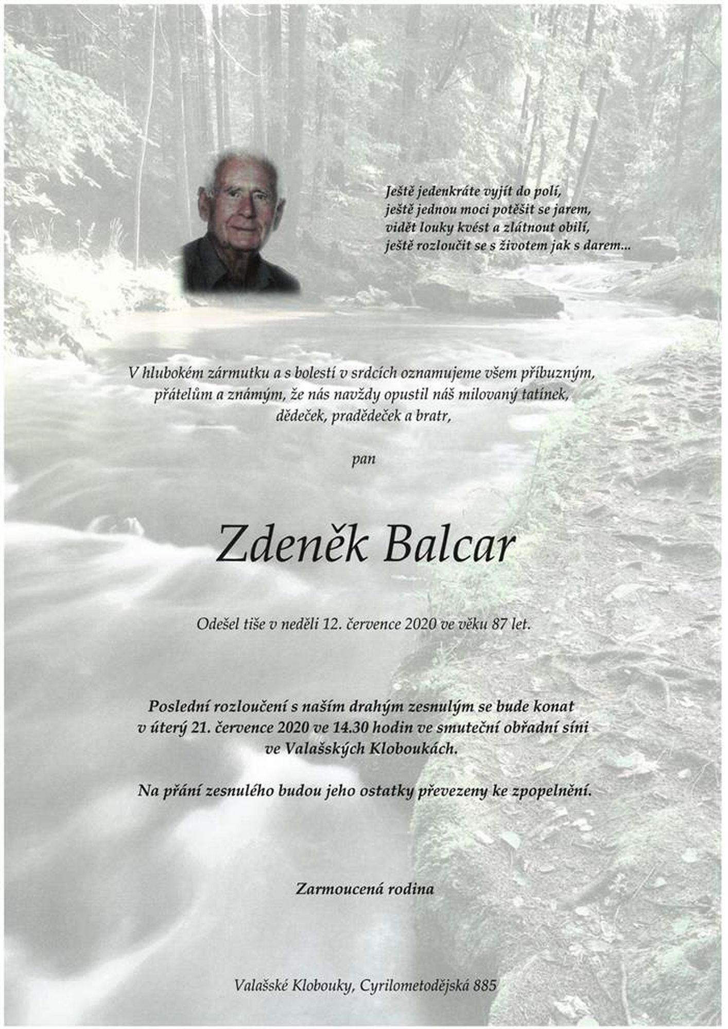 Zdeněk Balcar