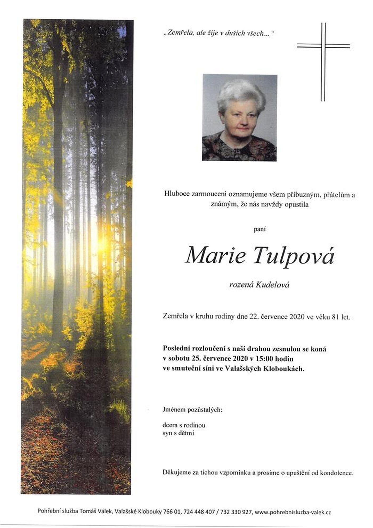 Marie Tulpová