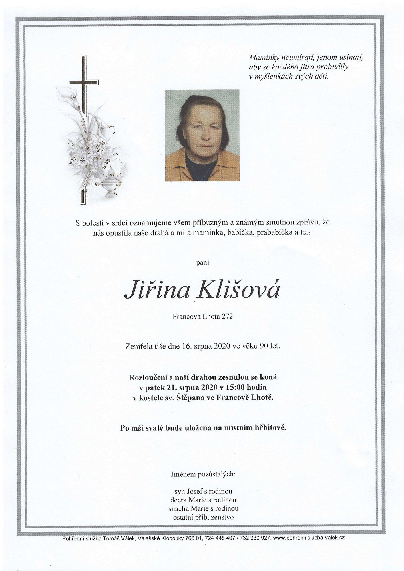 Jiřina Klišová
