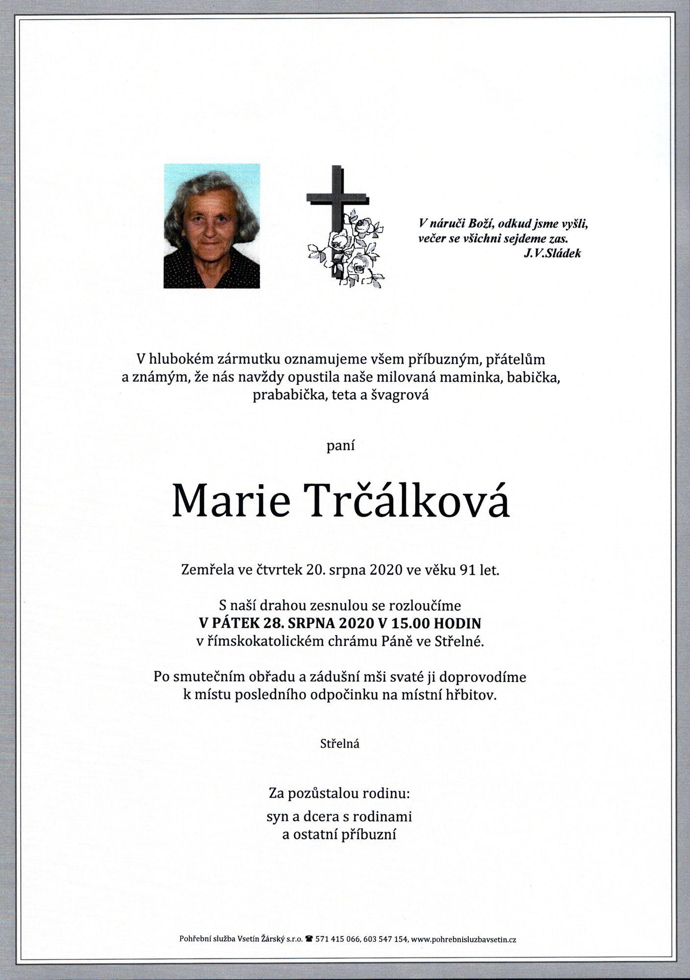 Marie Trčálková