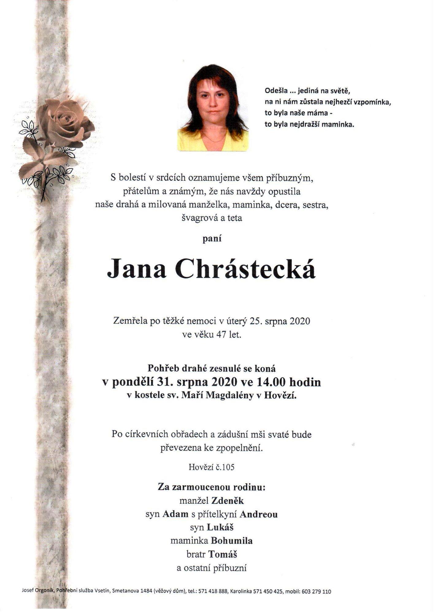 Jana Chrástecká