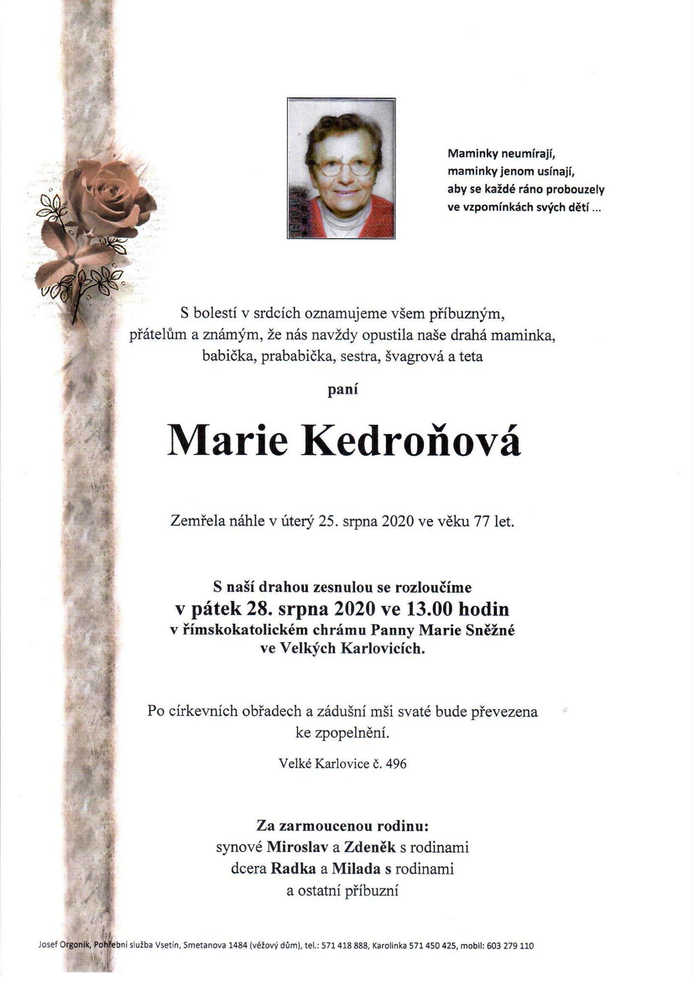 Marie Kedroňová