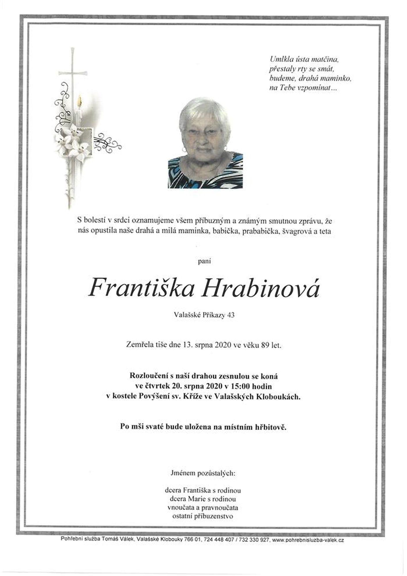 Františka Hrabinová