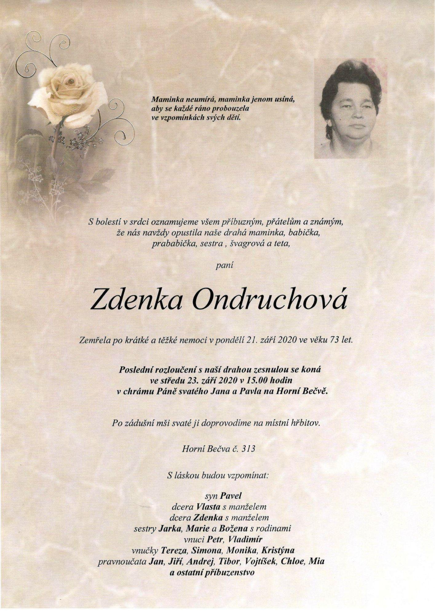 Zdenka Ondruchová
