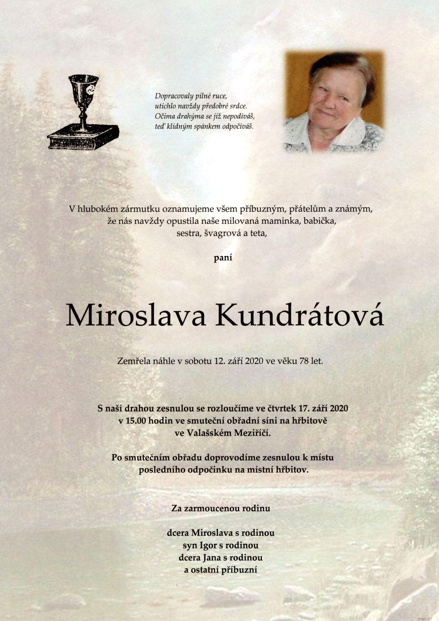 Miroslava Kundrátová