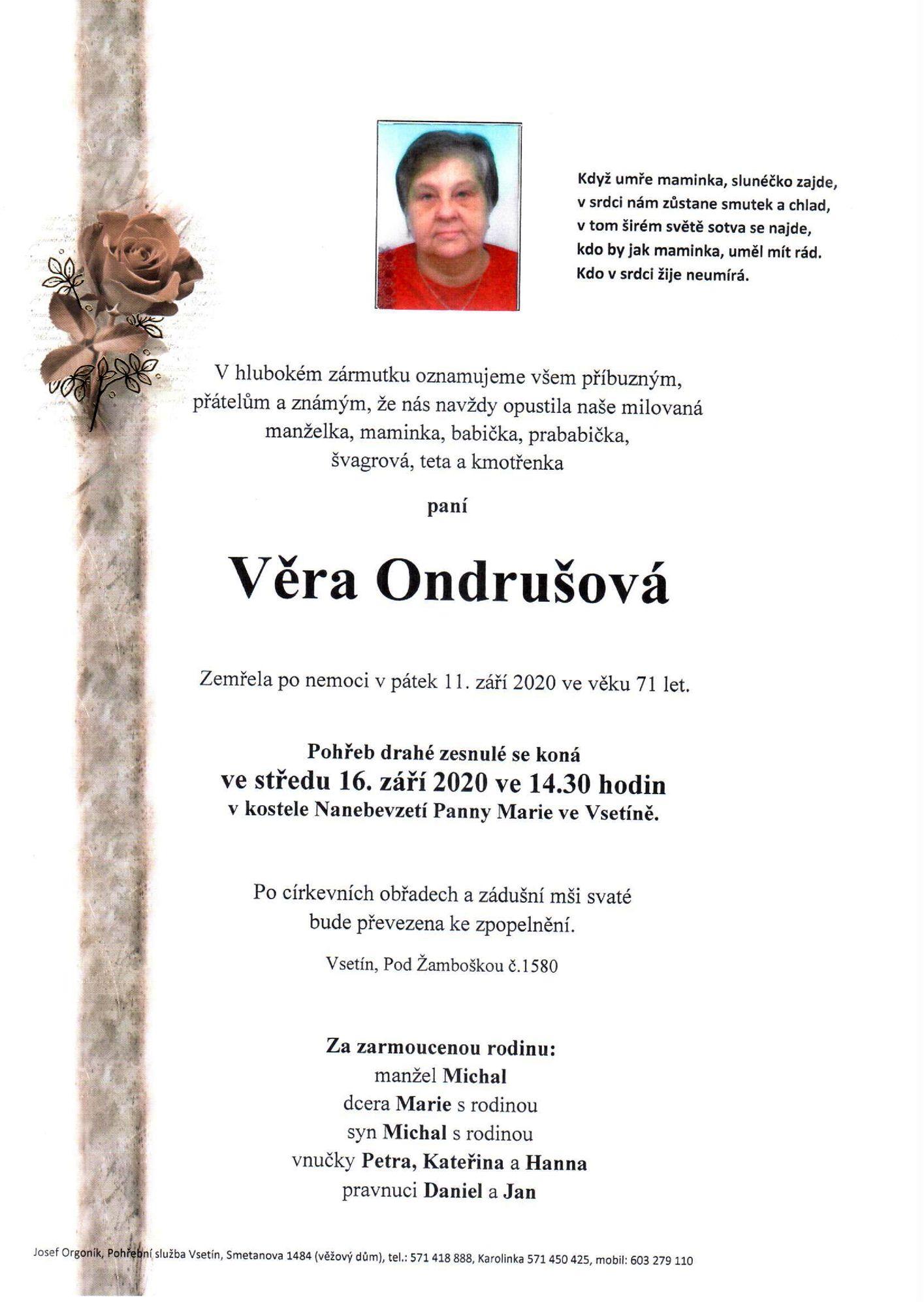 Věra Ondrušová
